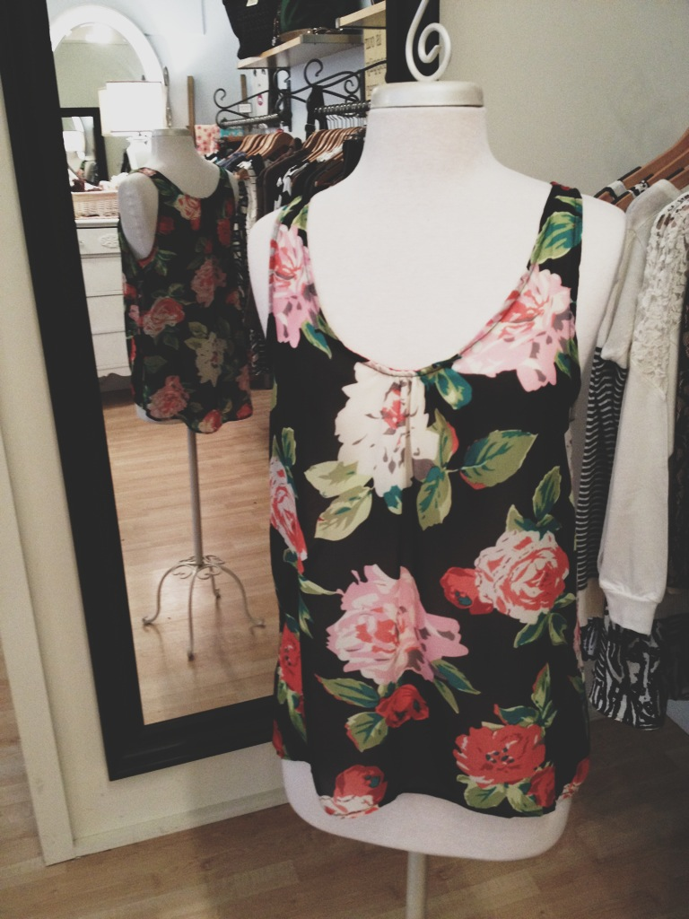 Floral Tank-Top Blouse