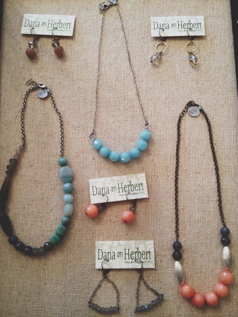 Some of our new Dana Herbert Jewelry Collection (Made in Portland).