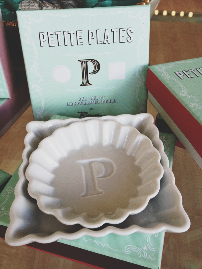 Petite Plates in all different letters.