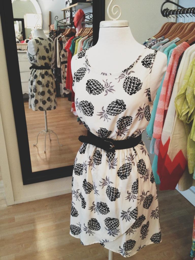 Black and White Pineapple Dress