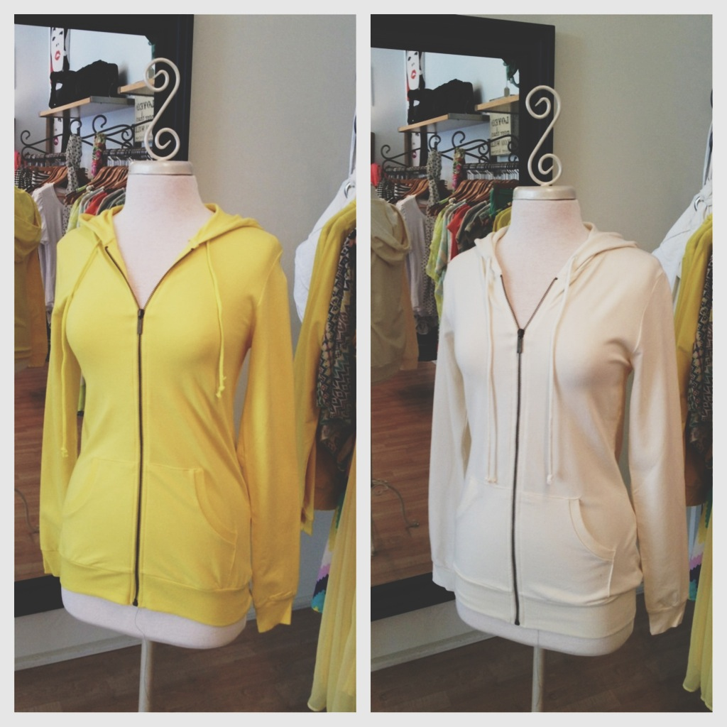 Yellow and Beige Super Soft Hoodies