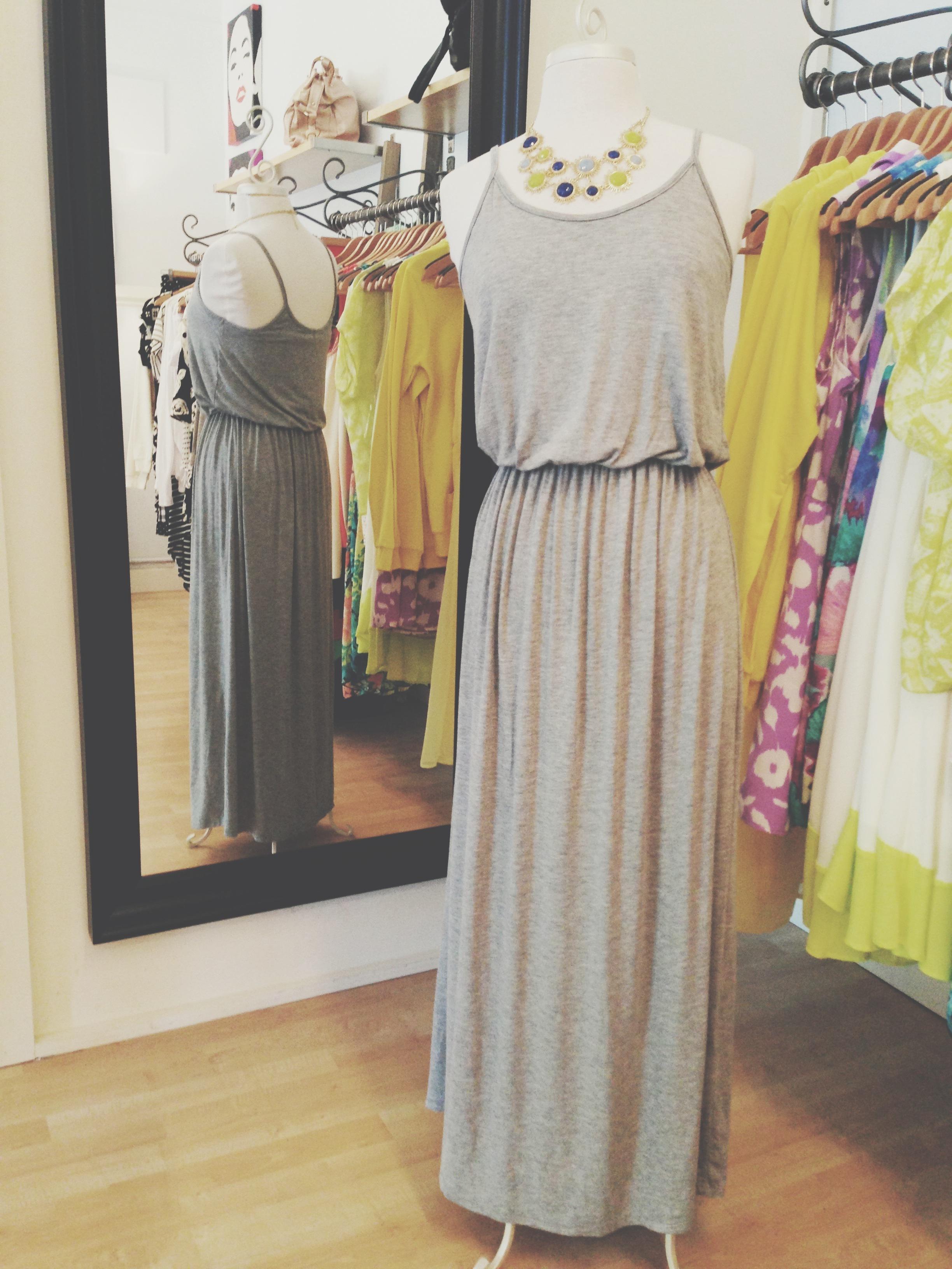 Classic grey maxi dress