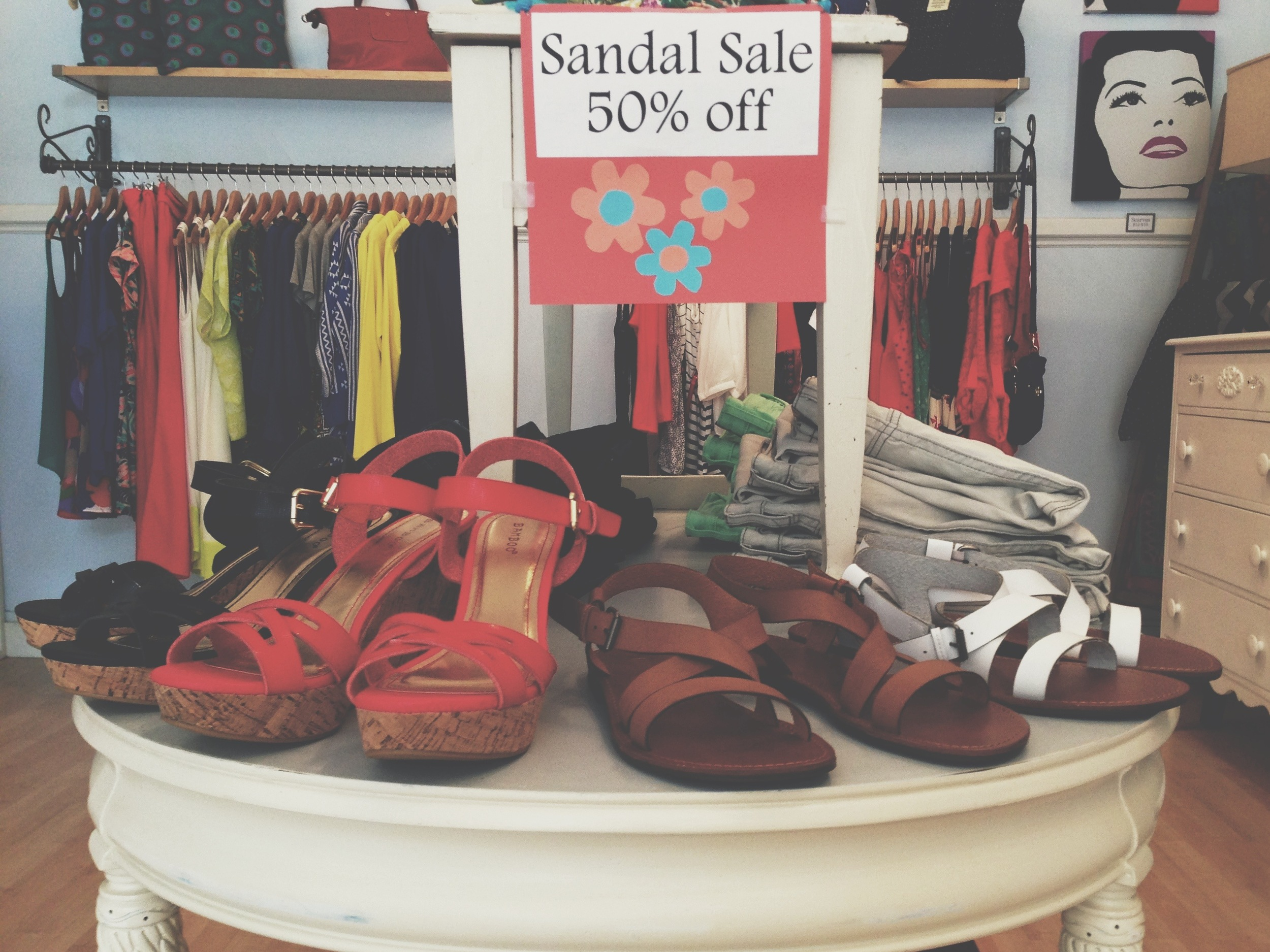 We can't forget our 50% off Sandal Sale!