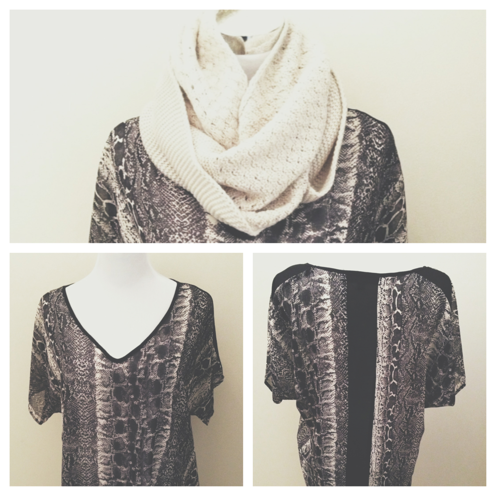 Love Stitch Snake Skin blouse with panel!