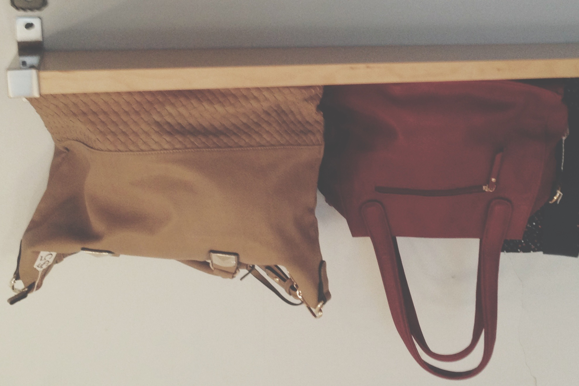 I spy....2 new purses on the shelves at Meadow :)