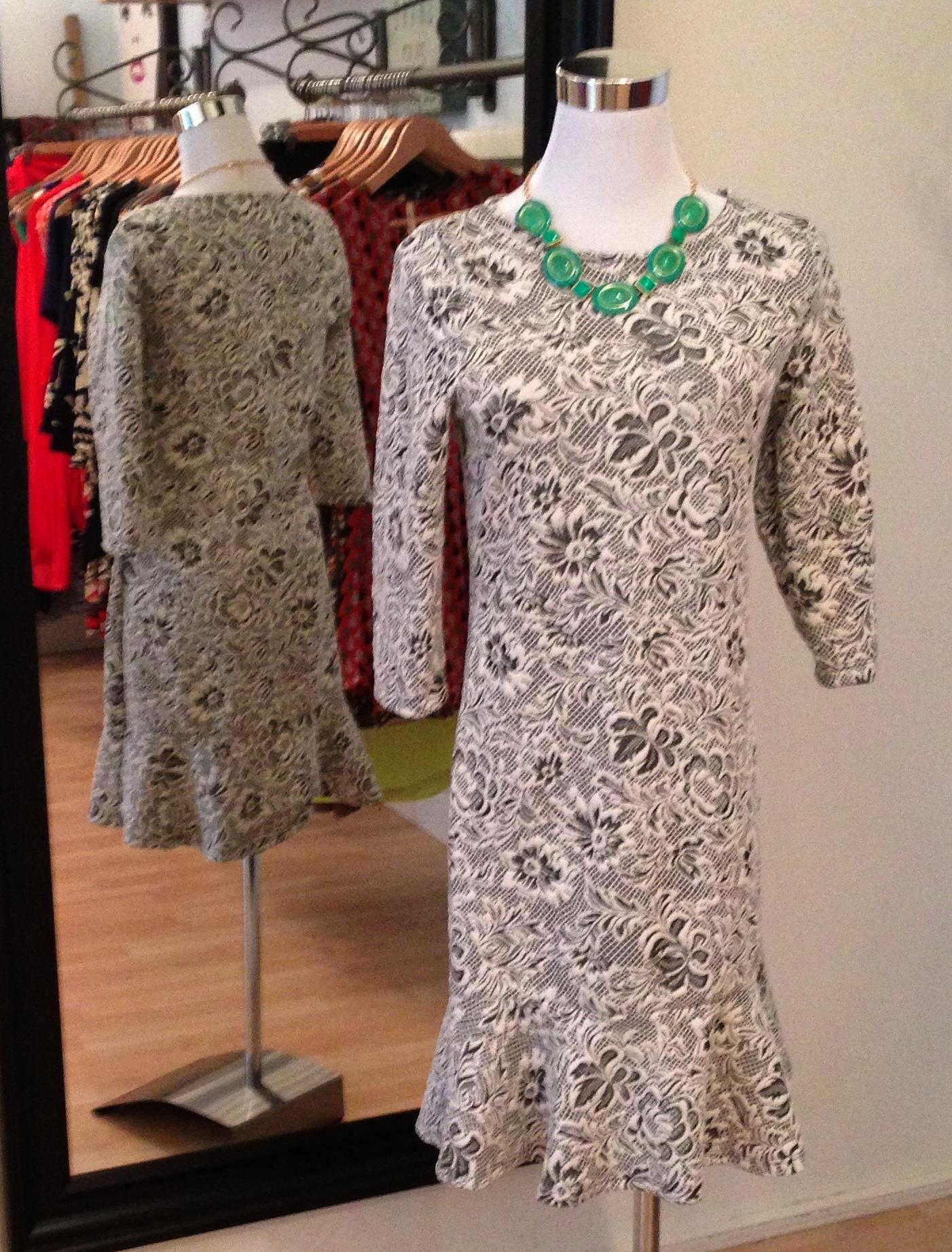 Textured floral dress, $48