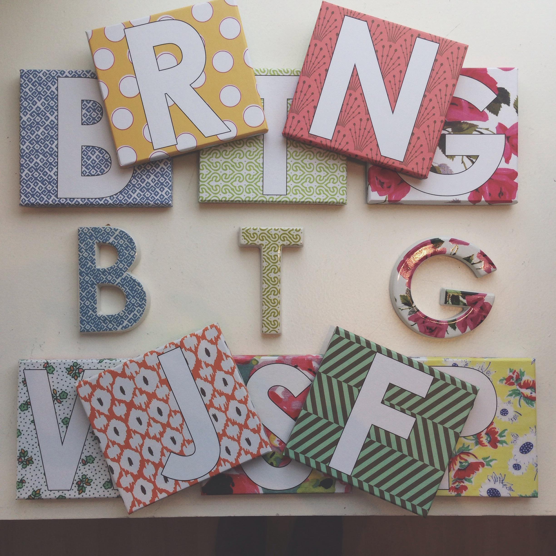 Decorative Porcelain Initial Letters $13