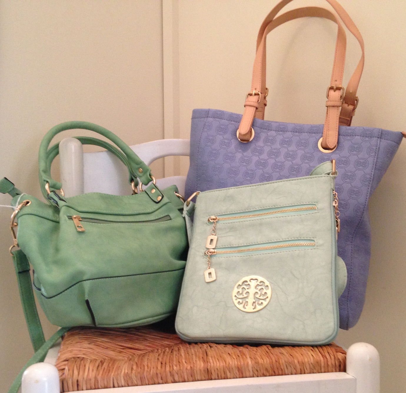 Spring colored cross body purses