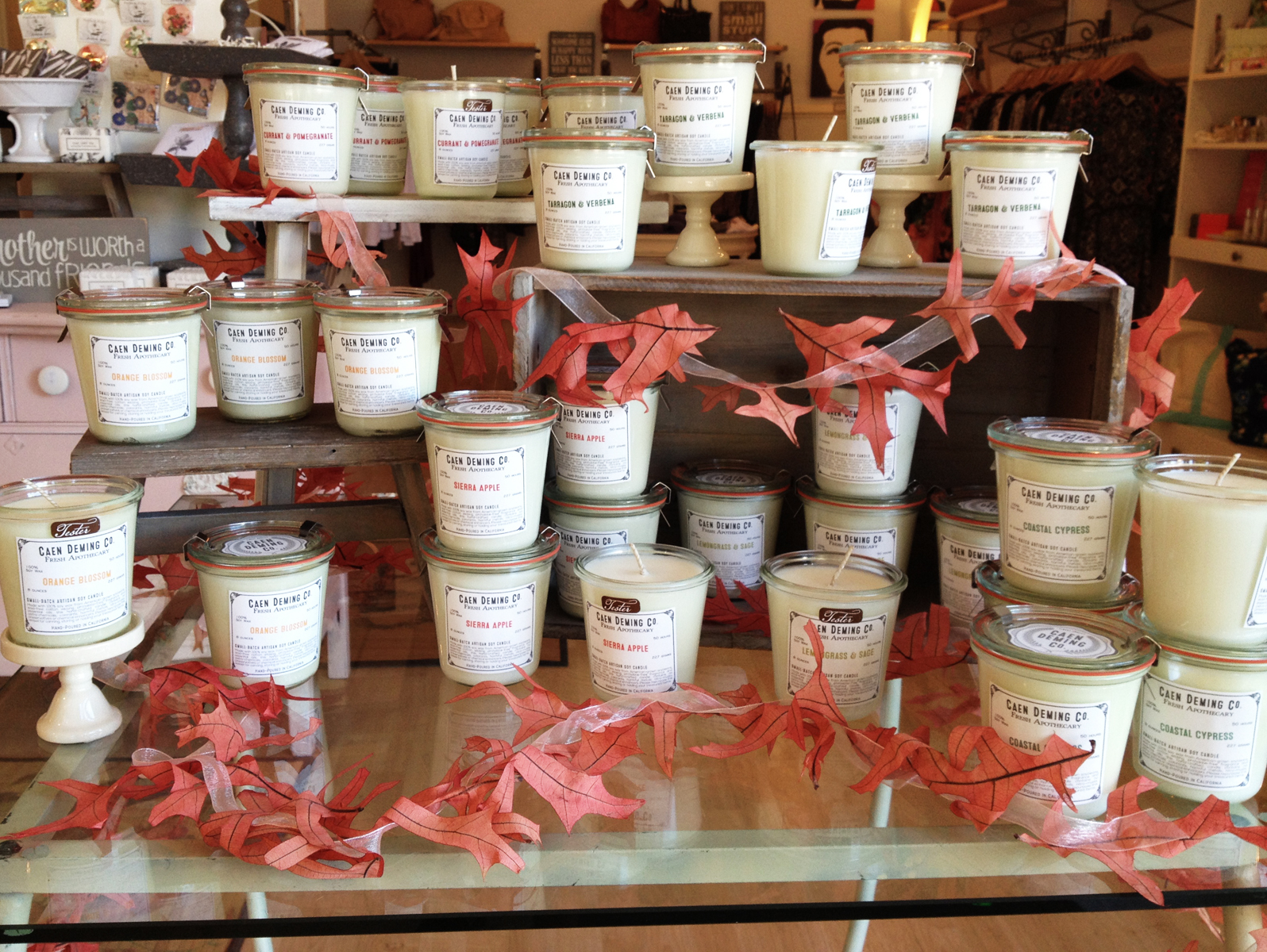 Caen Deming Co. Candles