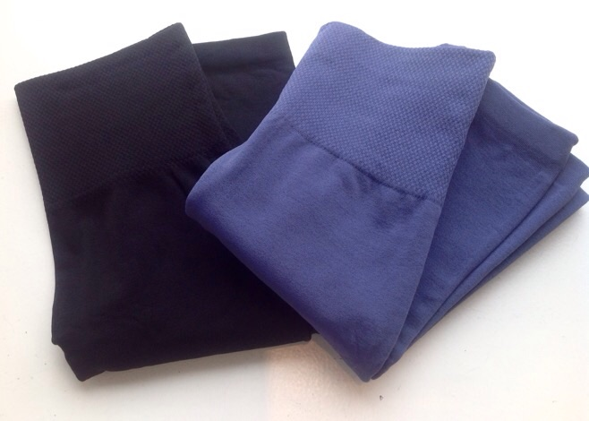 Bestselling one size, fleece-lined leggings in black and denim blue, $14