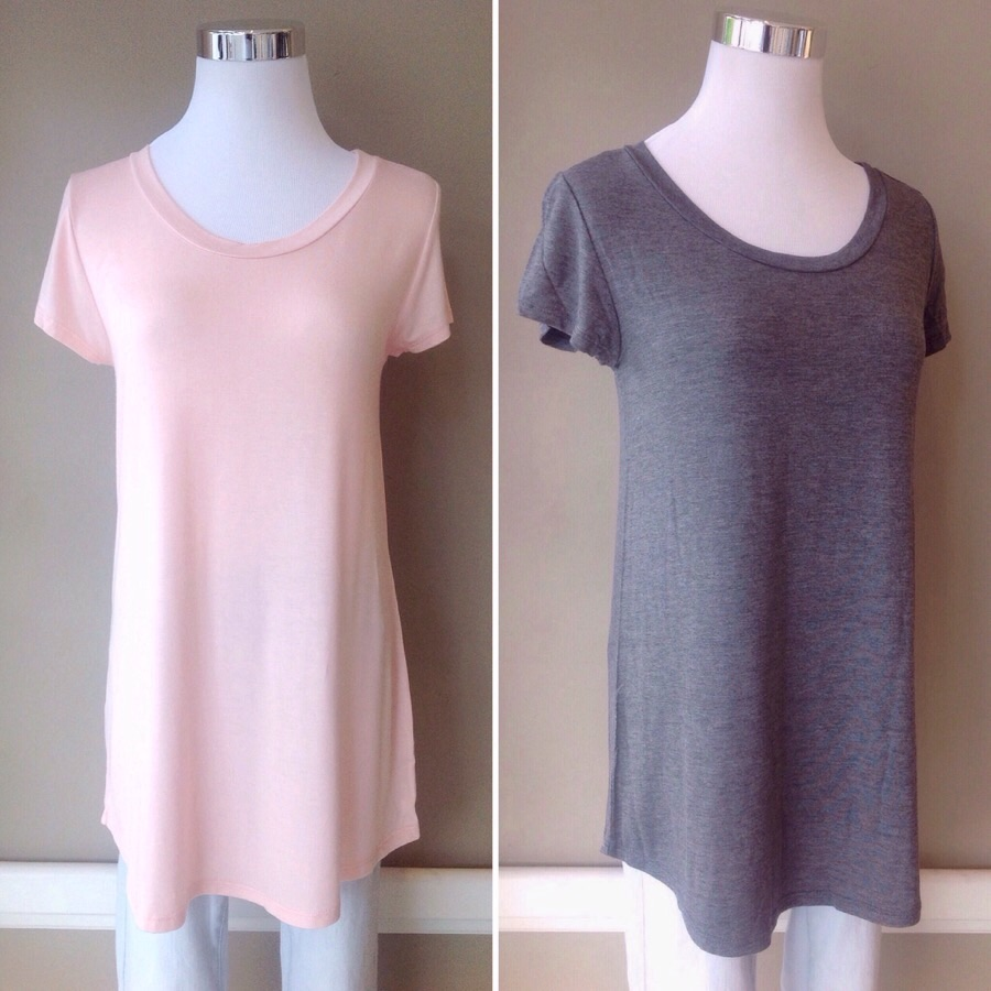 Bestselling scoop neck tees, $24. Also available,in navy, olive, and white.