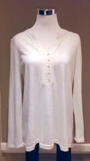 Ivory henley top, $32
