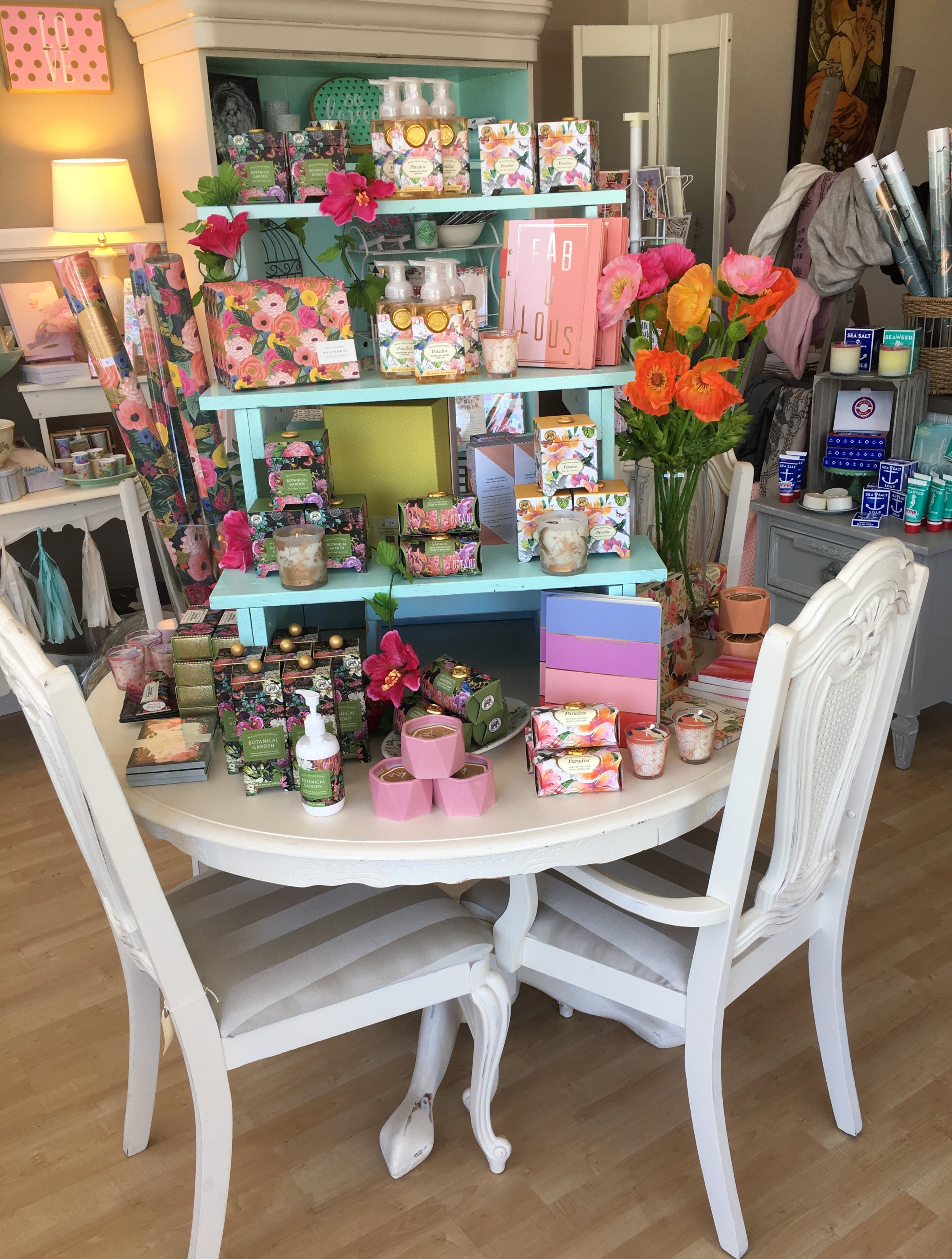 Stationary, journals and notepads combined with the beautiful lotions, soaps and candles will make any mom smile!