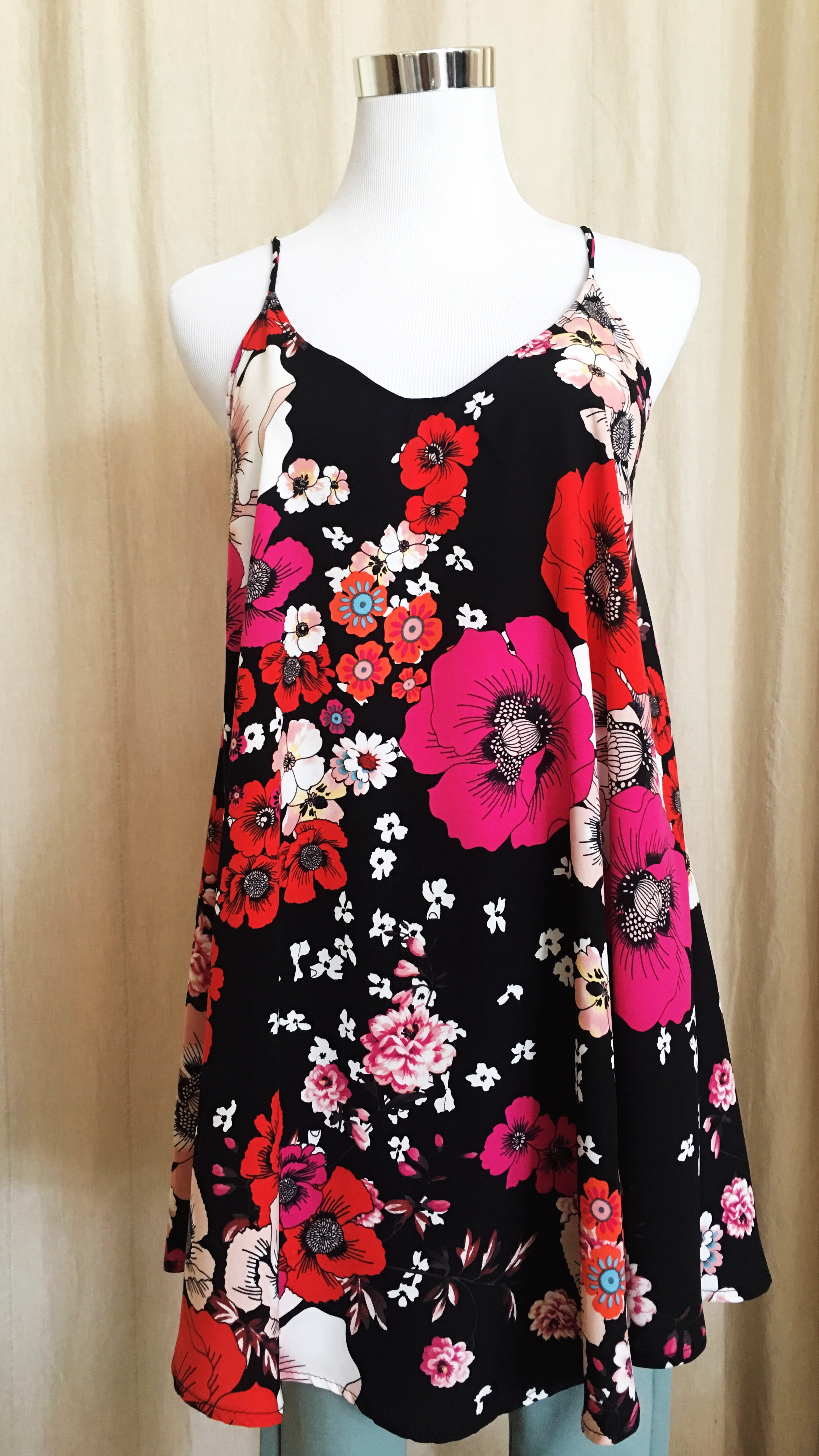 Bold vintage floral tunic.  $35