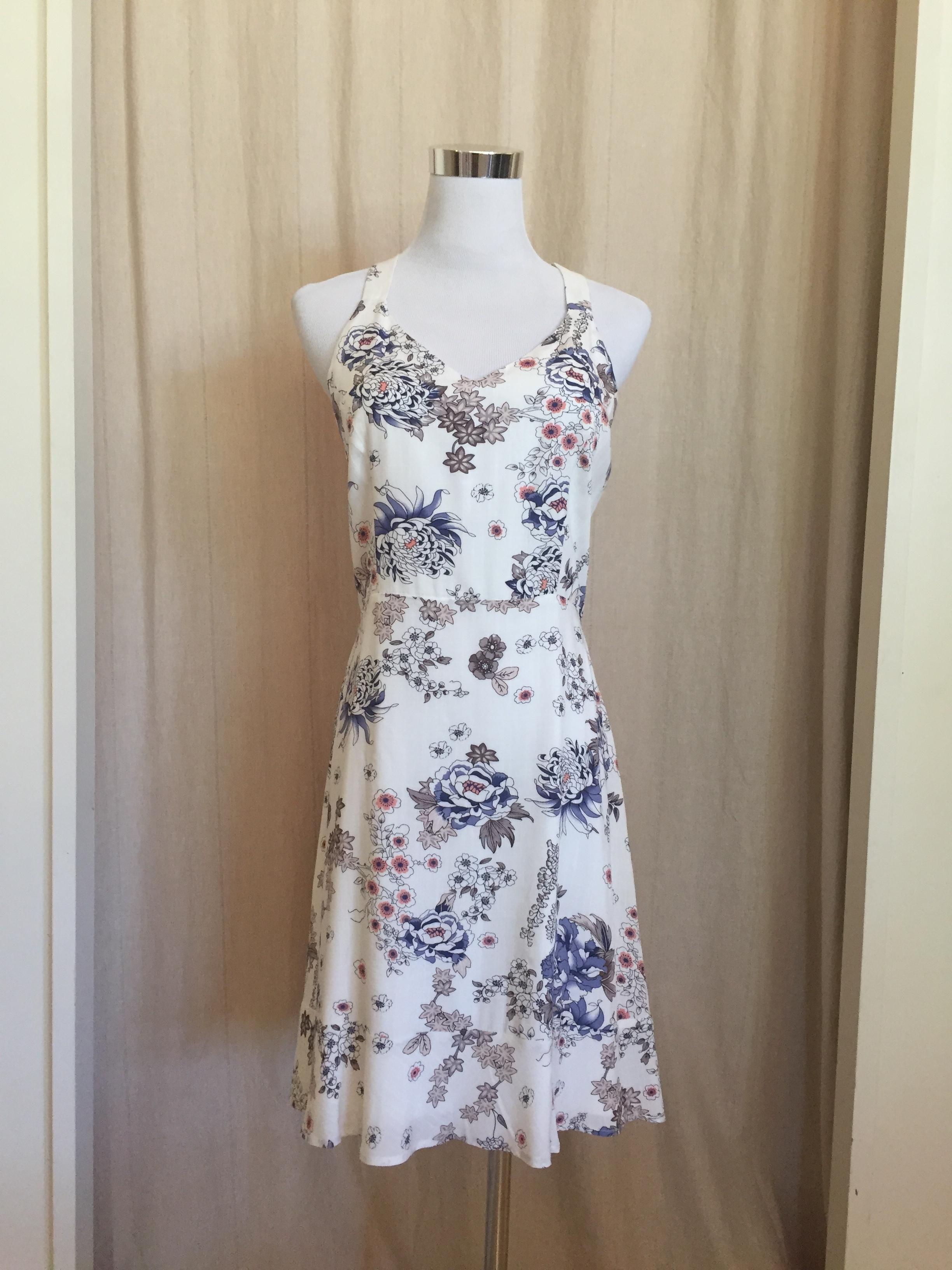Strappy Printed Dress, $54