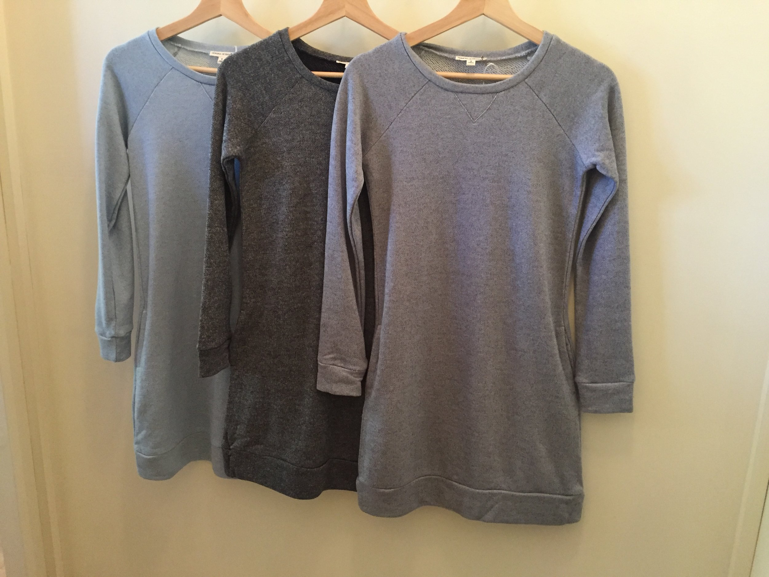 Cozy Tunics,$32  (Perfect for a brisk Seattle morning, has pockets!)