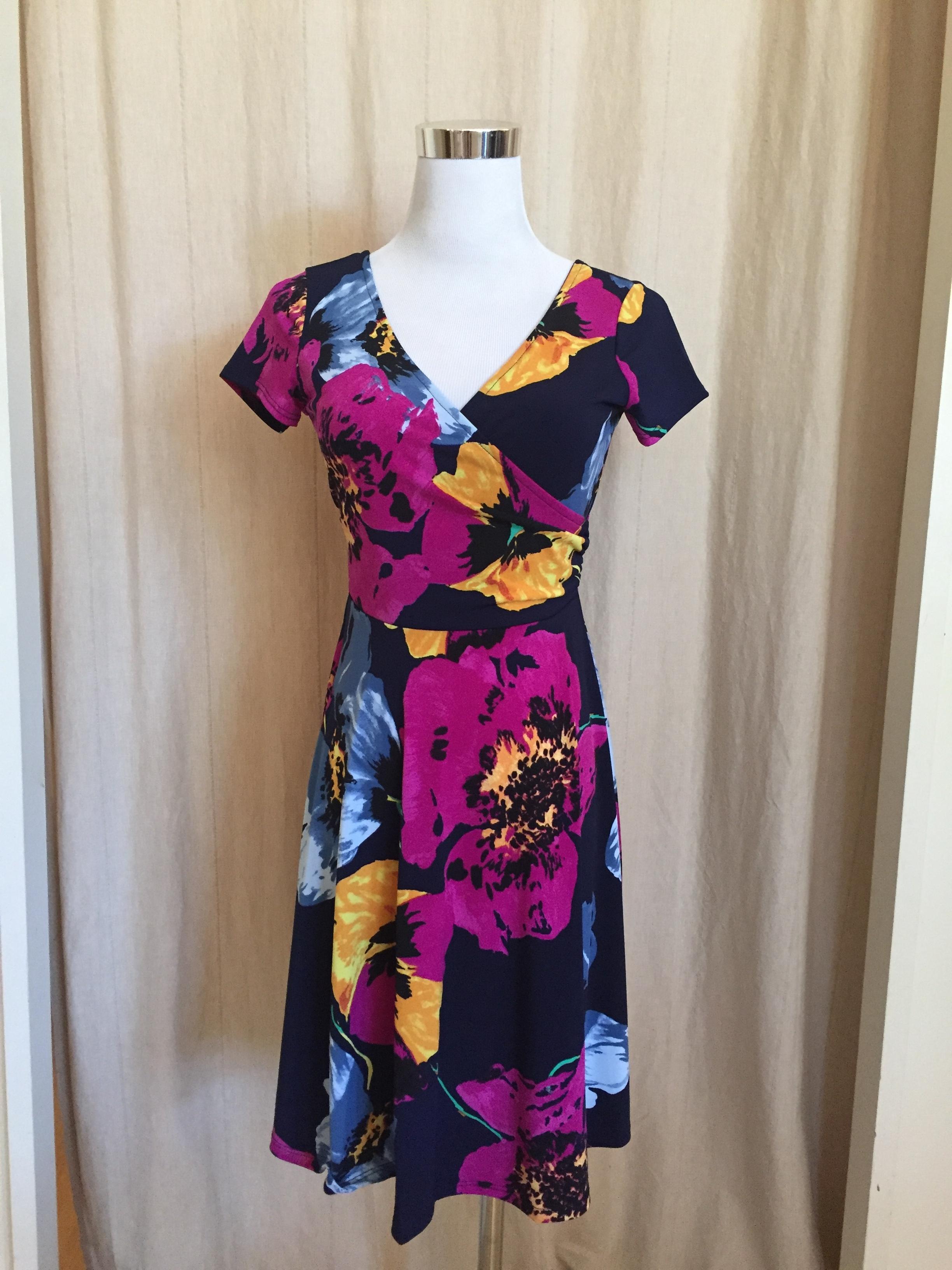 Pop of Floral Cross Front Dress, $42