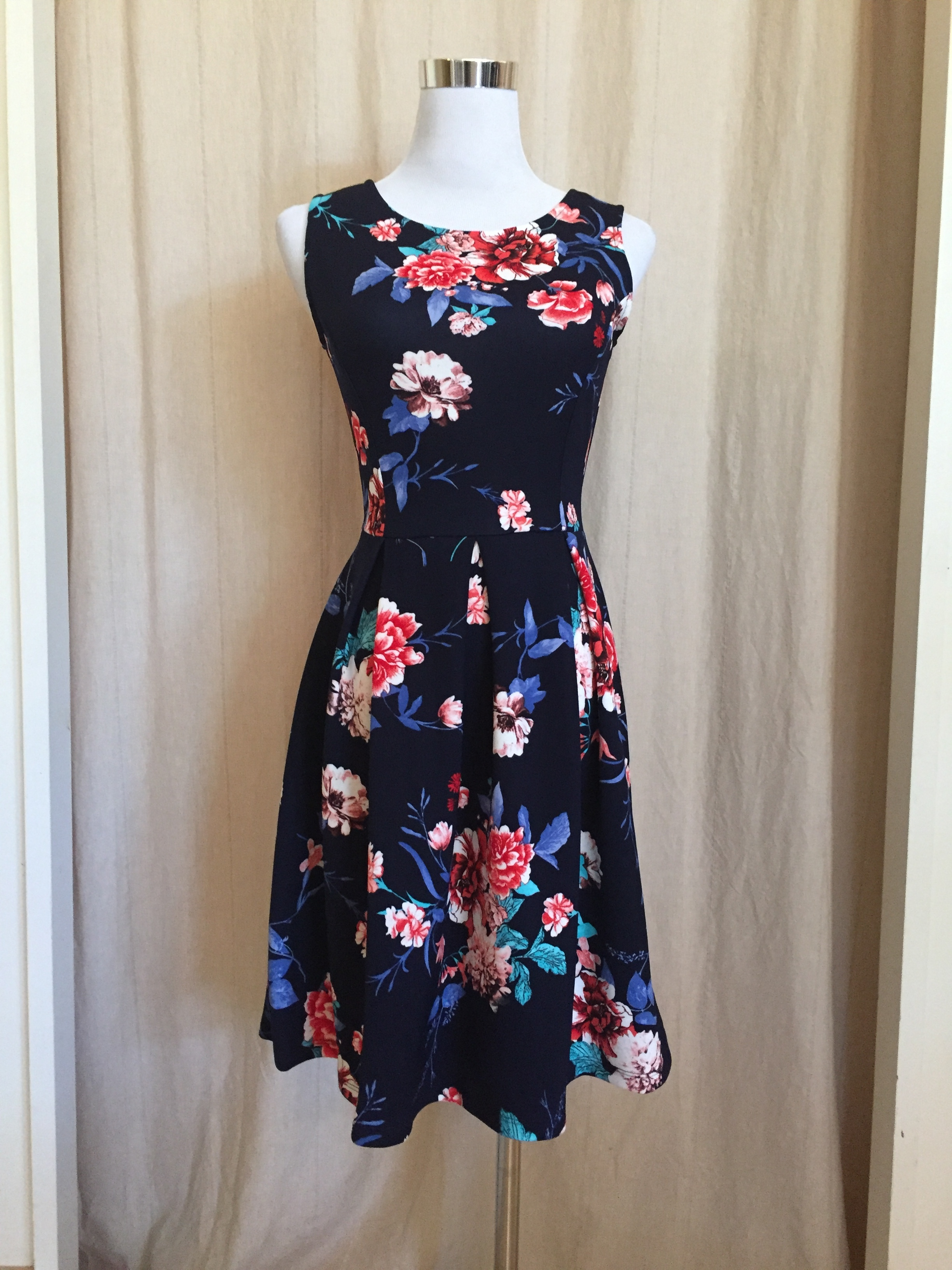 Floral Pleated Dress, $45