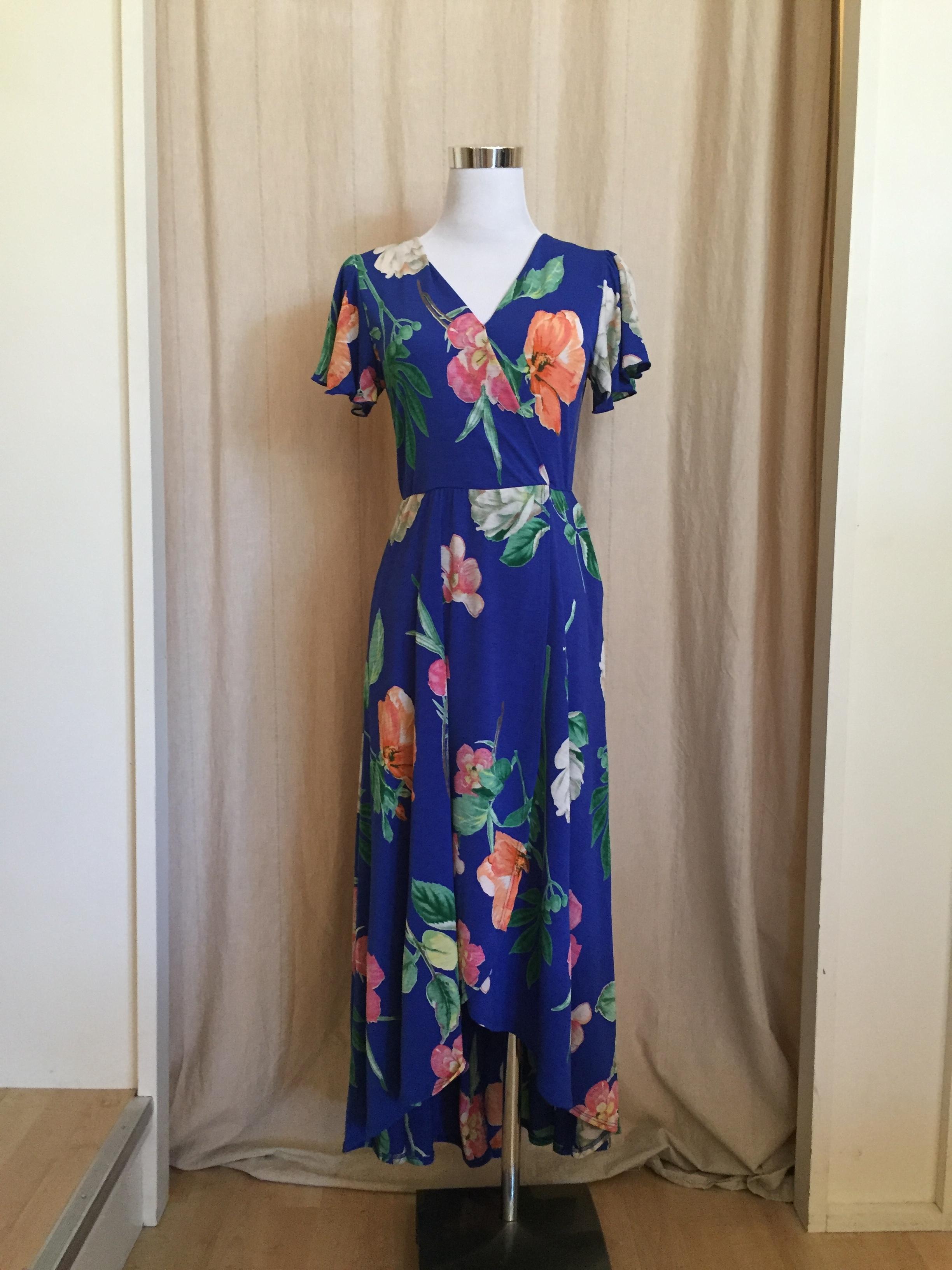 Royal Blue Wrap Dress, $54