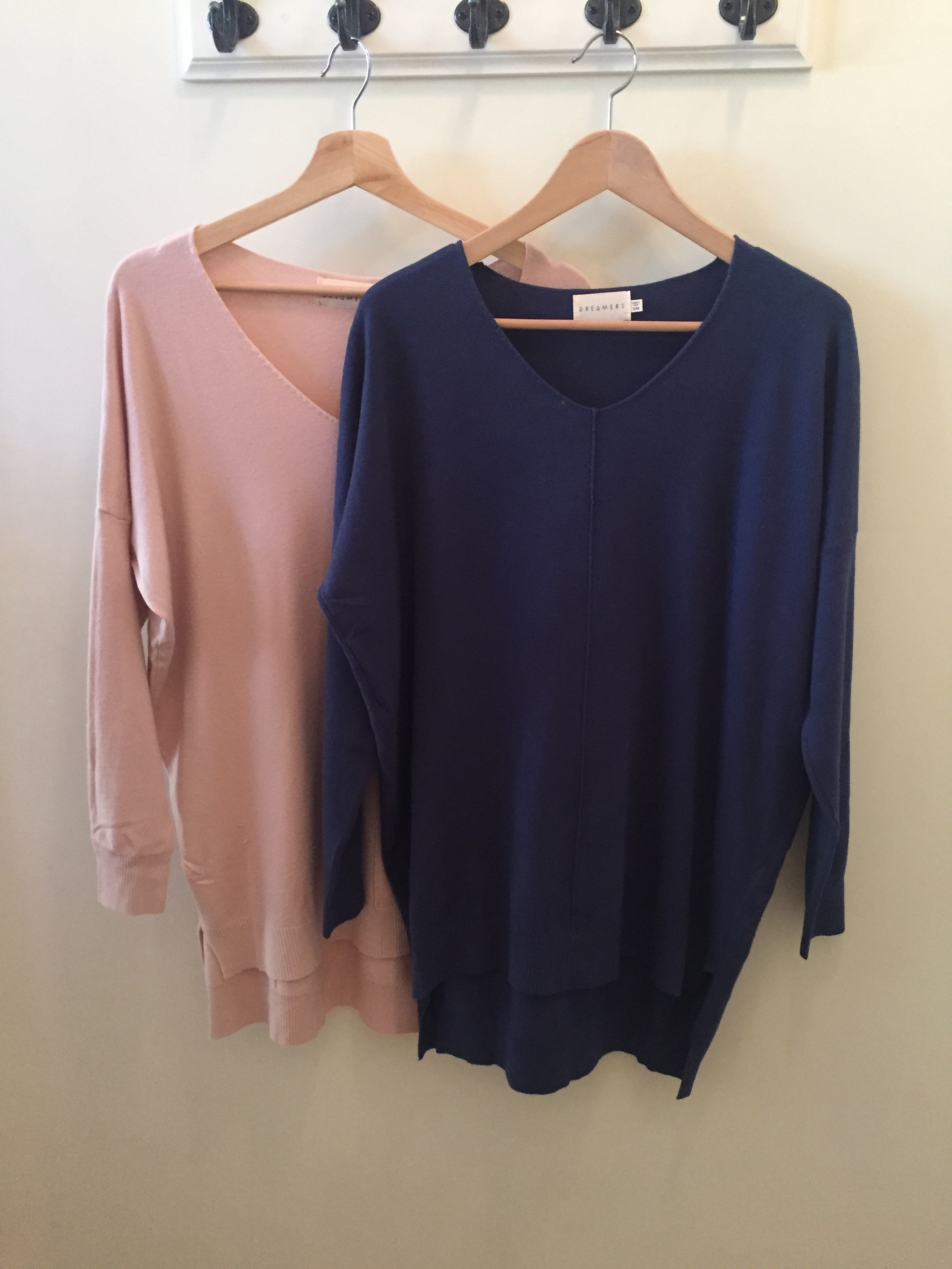 Dreamers V-Neck Sweaters, $42