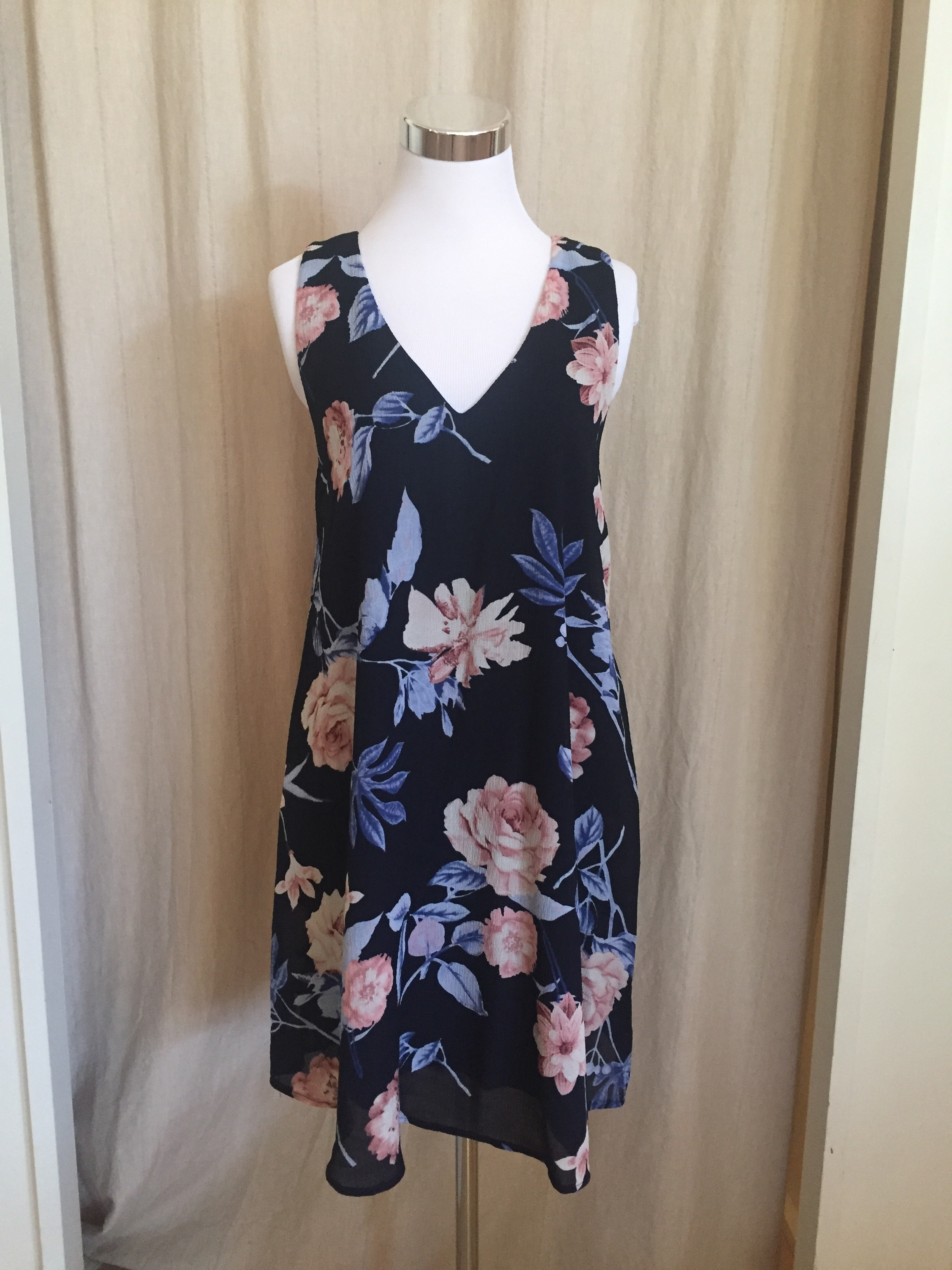 Strappy Back Floral Dress, $45