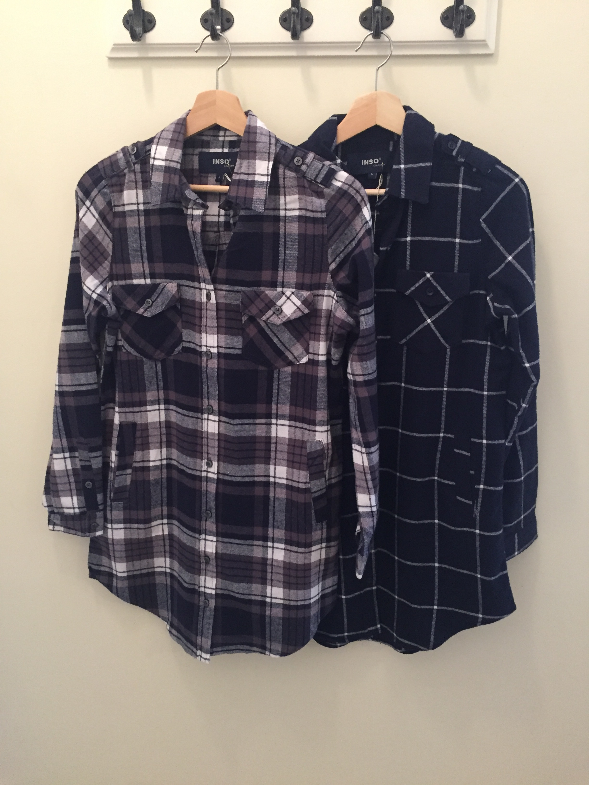 Tunic Flannel, with Pockets! $32