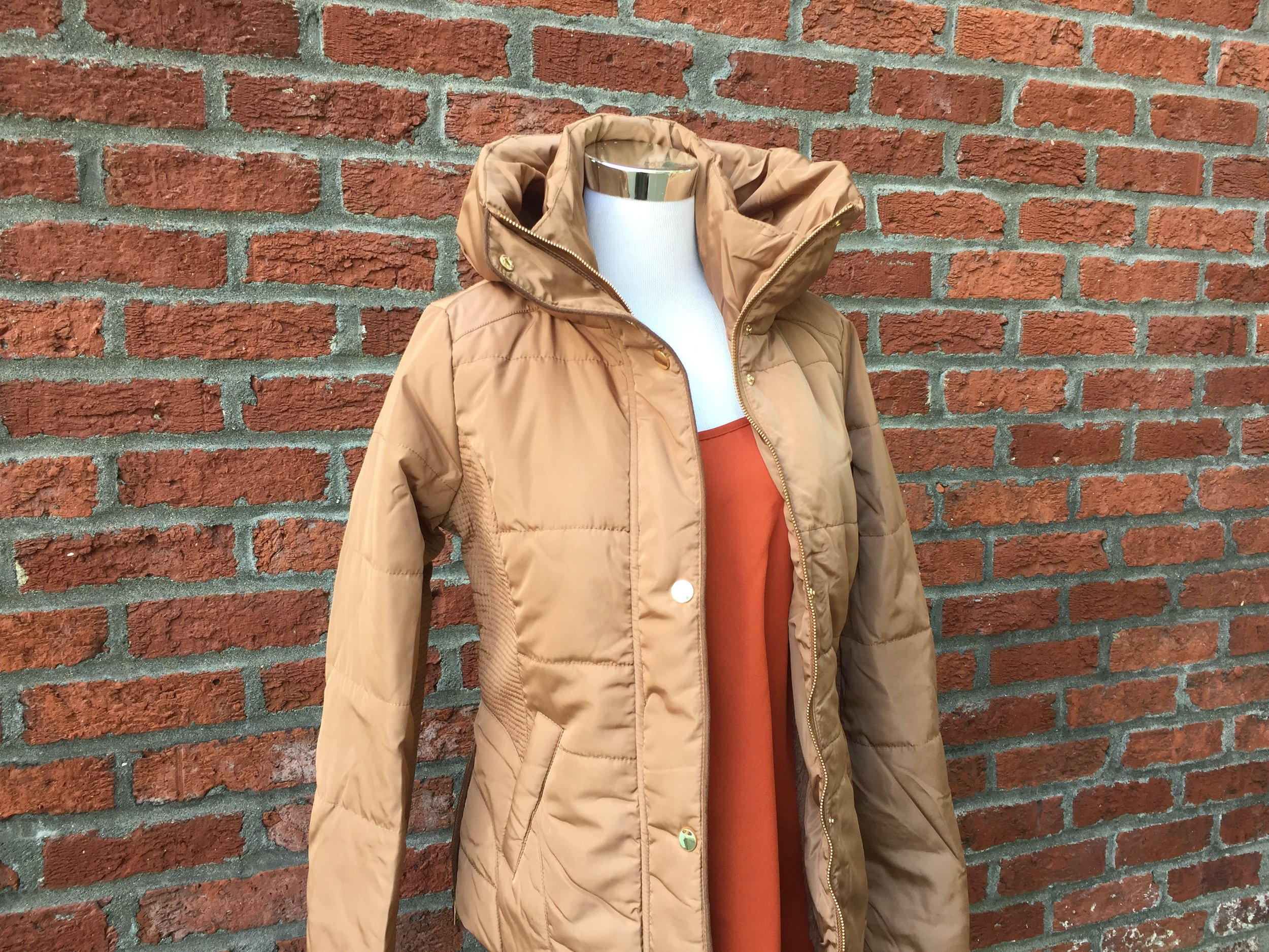 Tan Puffy Coat (Also in black)