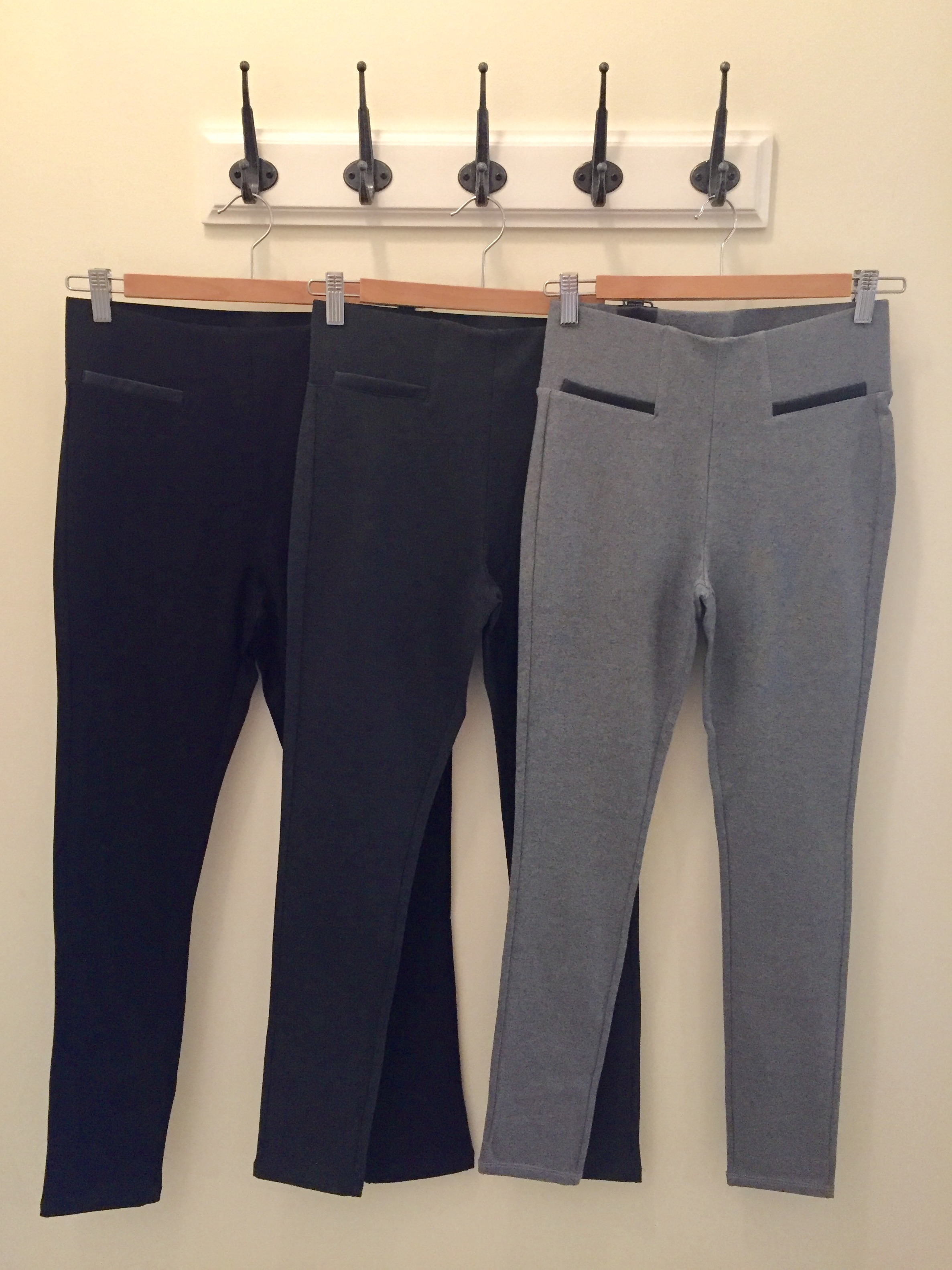 Ponte Pants (Black, Charcoal, Grey $28)