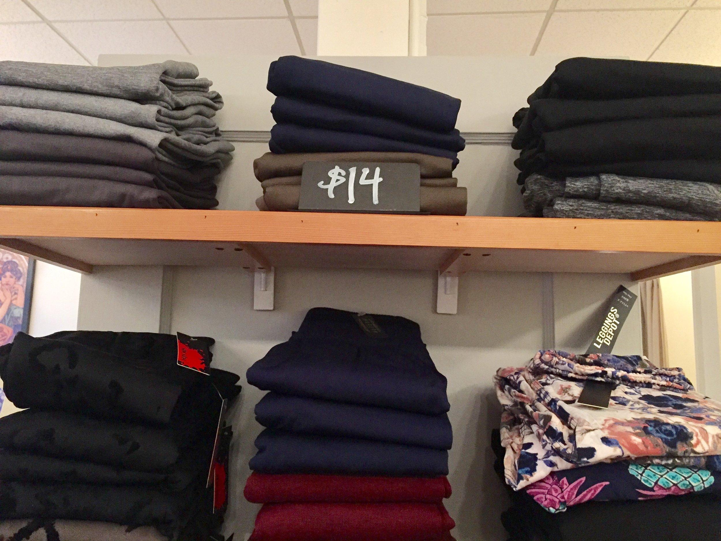 Leggings: Basic, Knit, Print, High-waisted ($14)