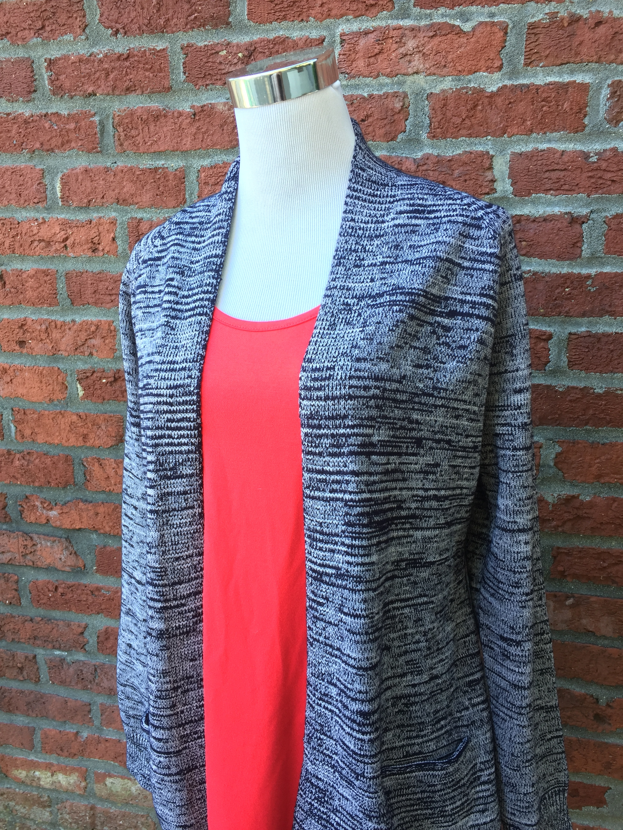 Ceilo  two tone cardi ($38, grey and navy)