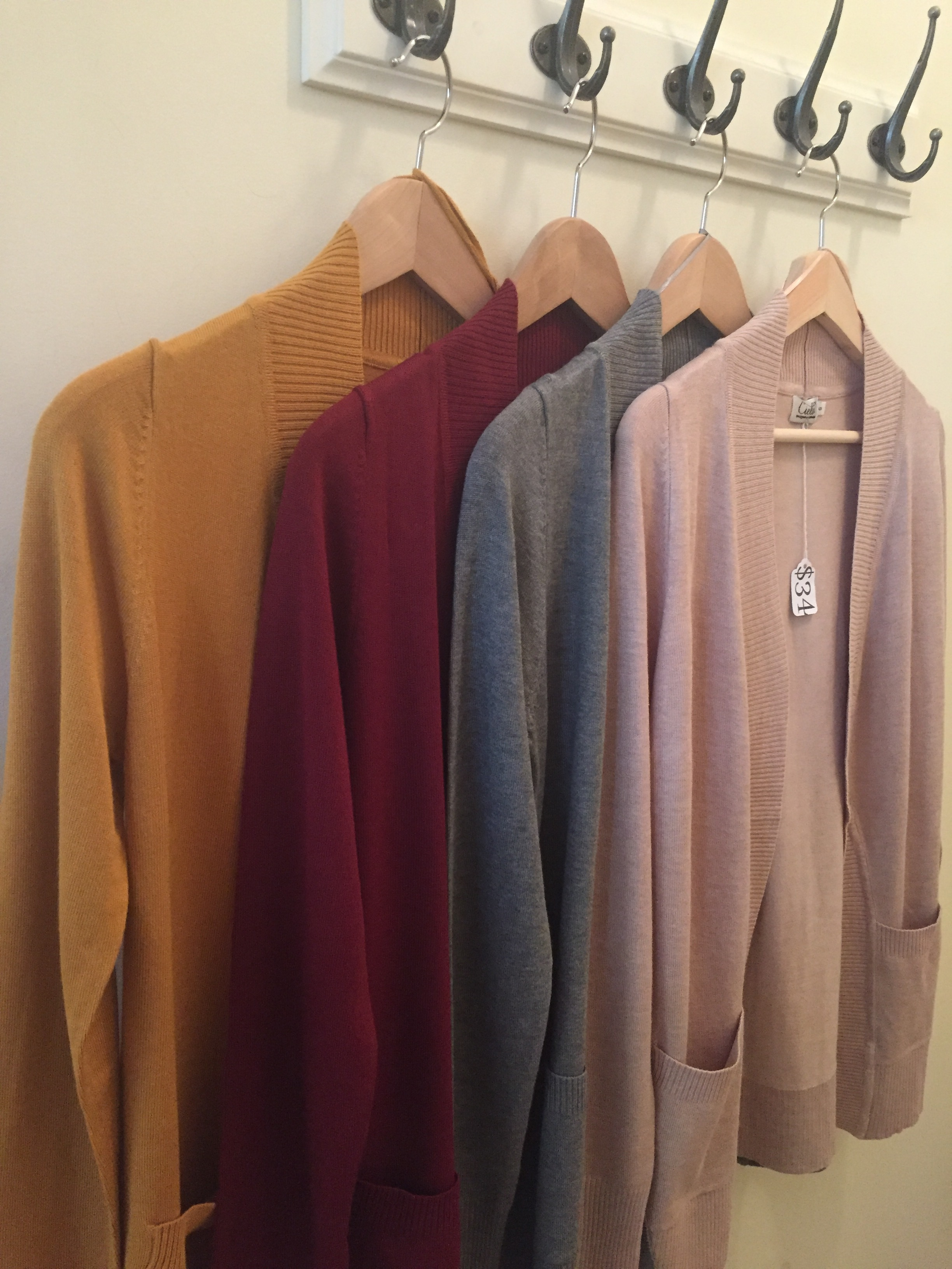 Ceilo open front cardigan ($34, various colors)