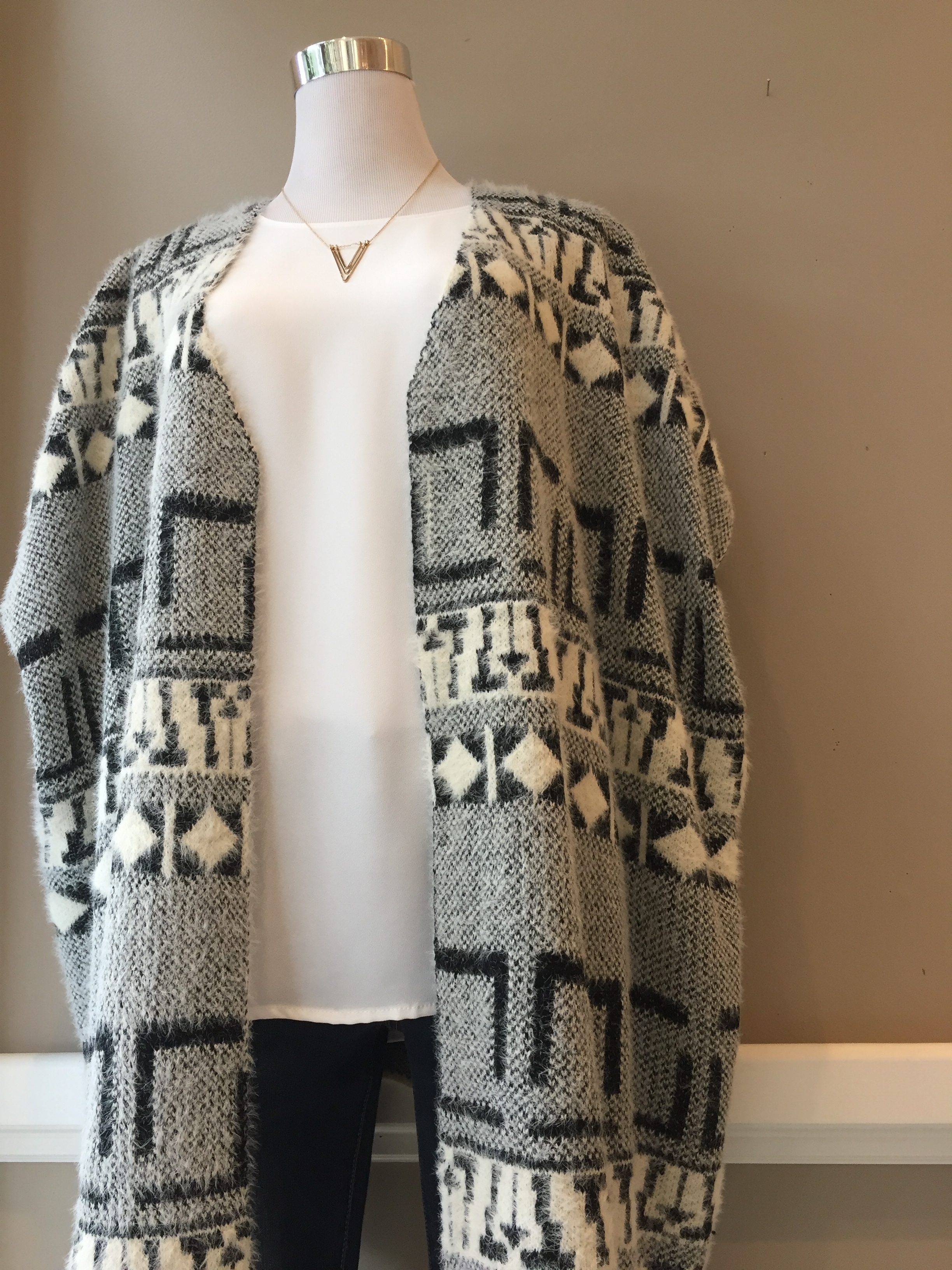 Patterned cozy vest ($38, also in navy)