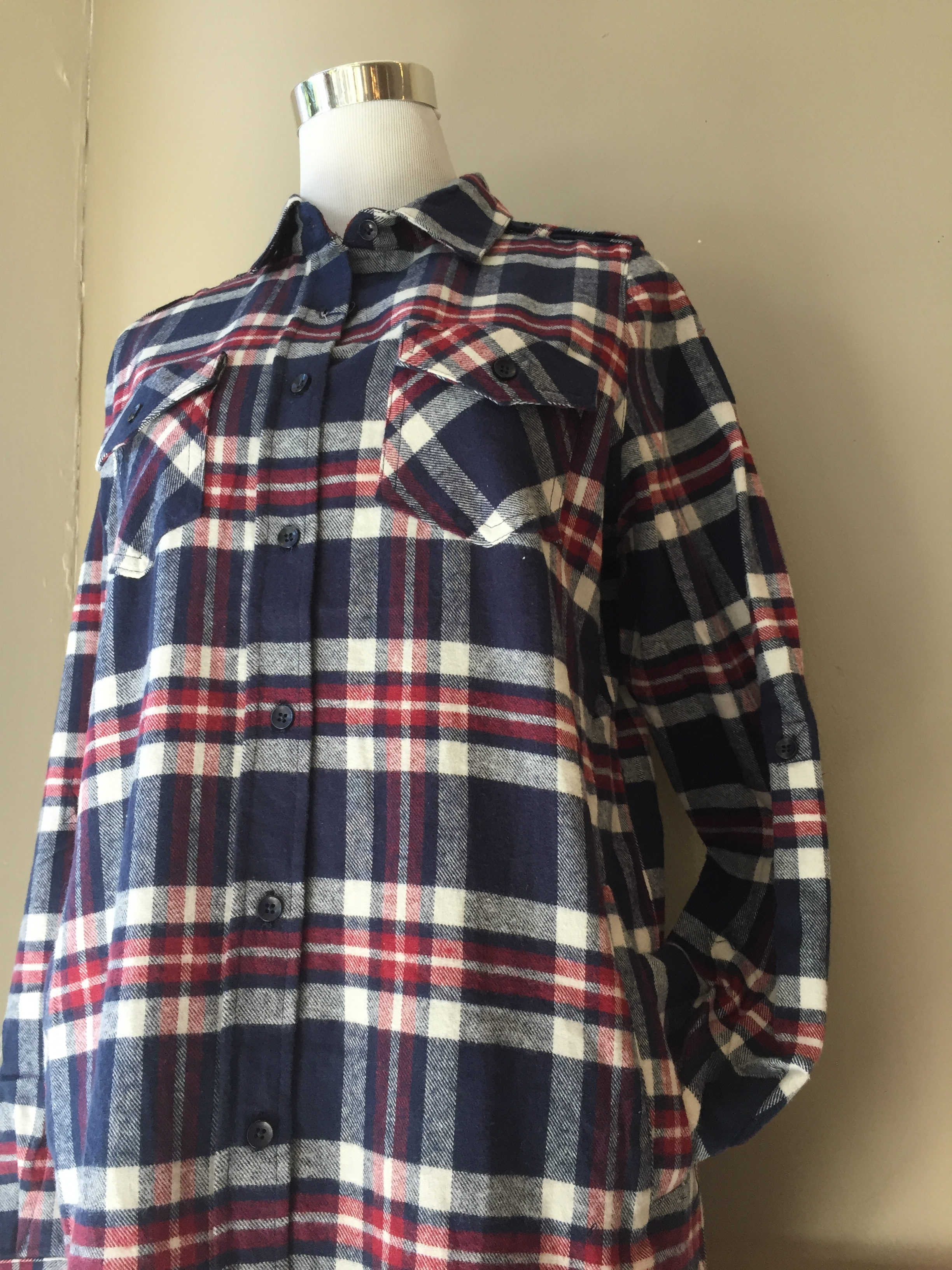 Flannel with pocket ($32, also in red)