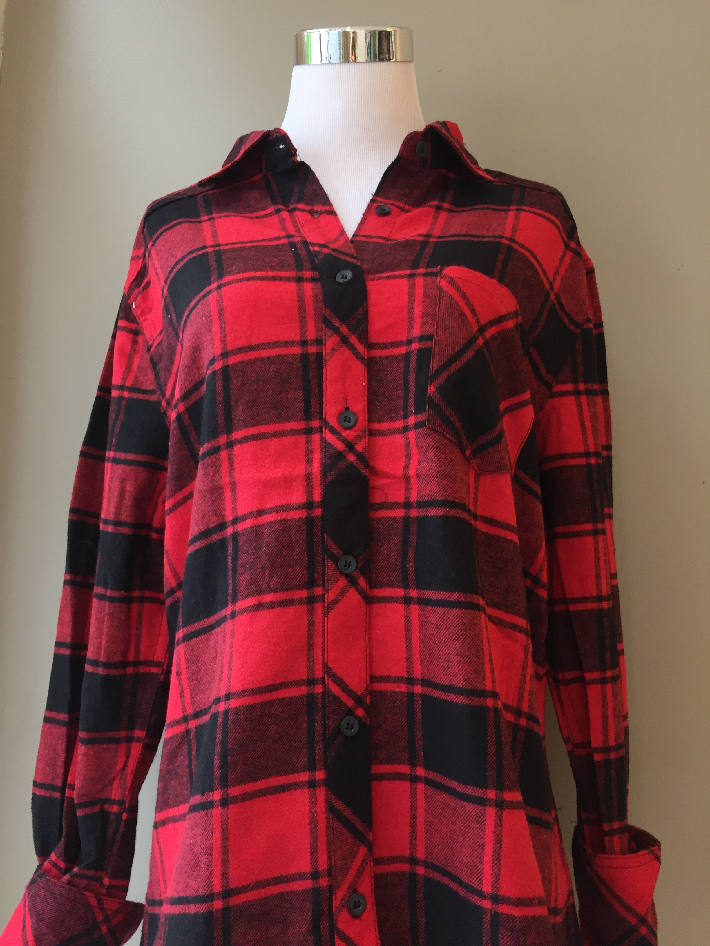 Flannel with elbow patch ($34, in various color ways)