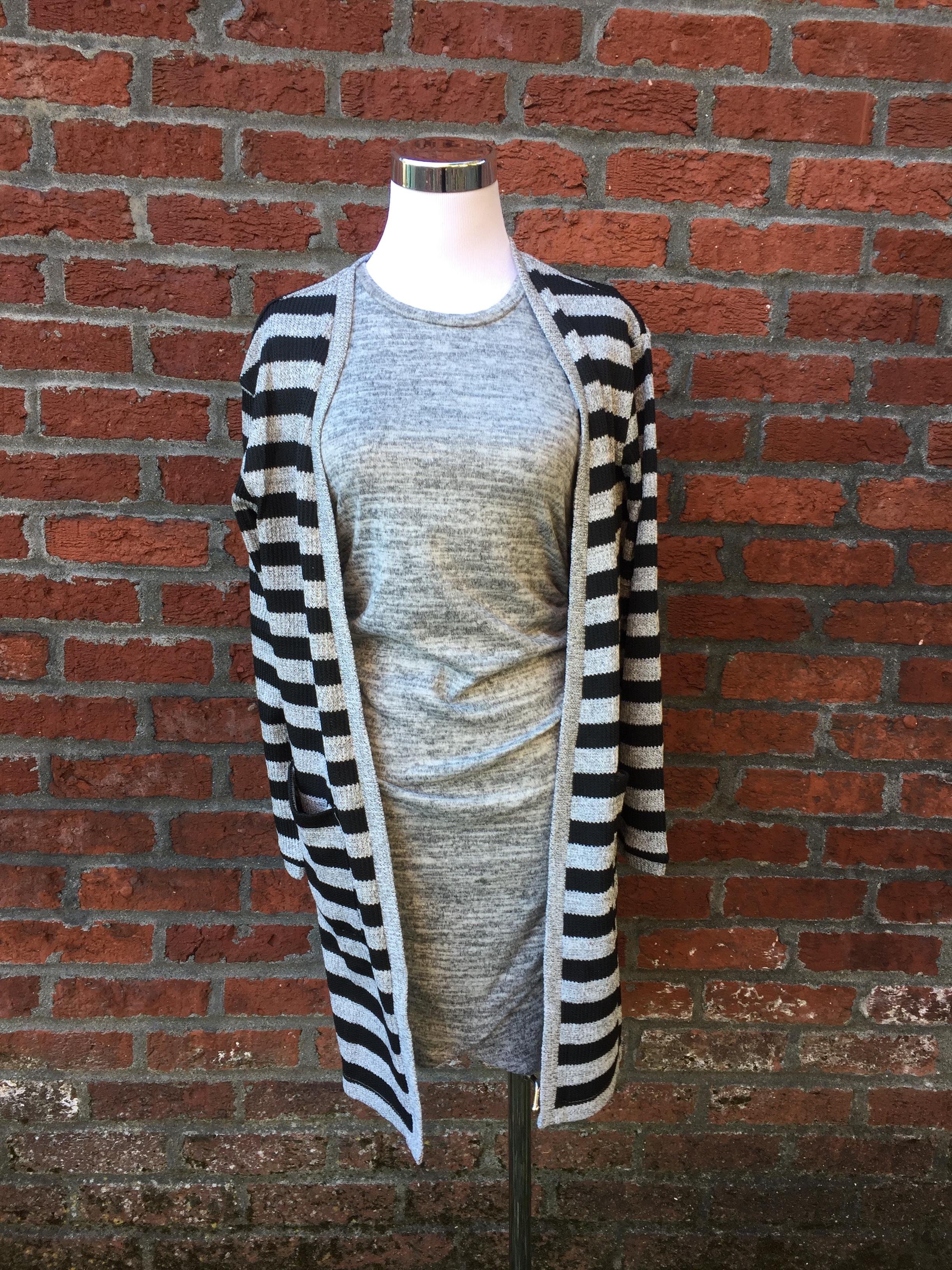 Striped Cardigan w/Pockets ($42)