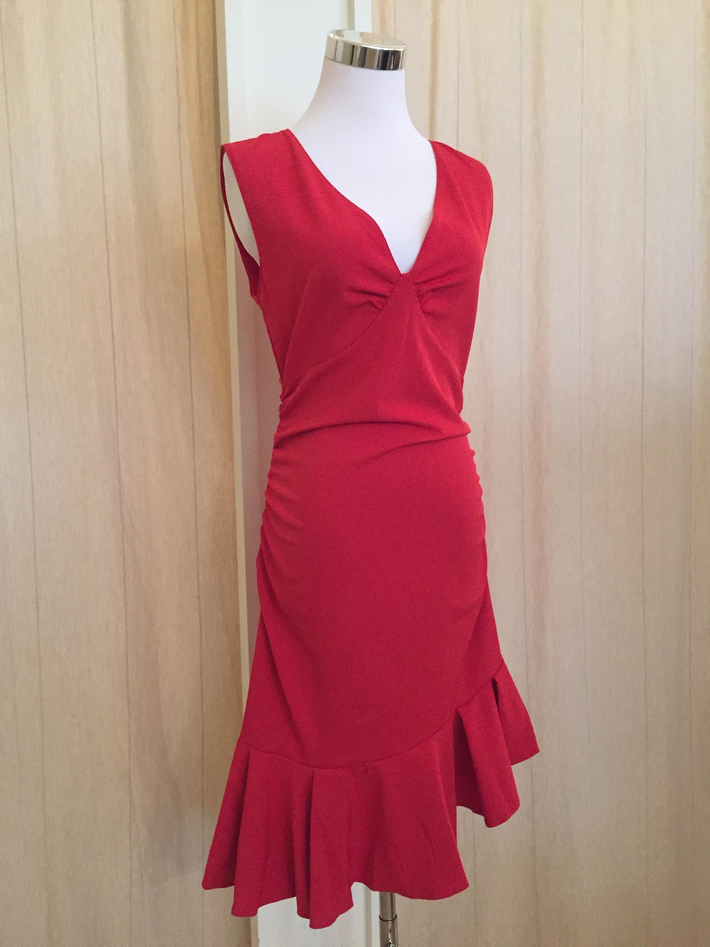Red ruffle dress $54