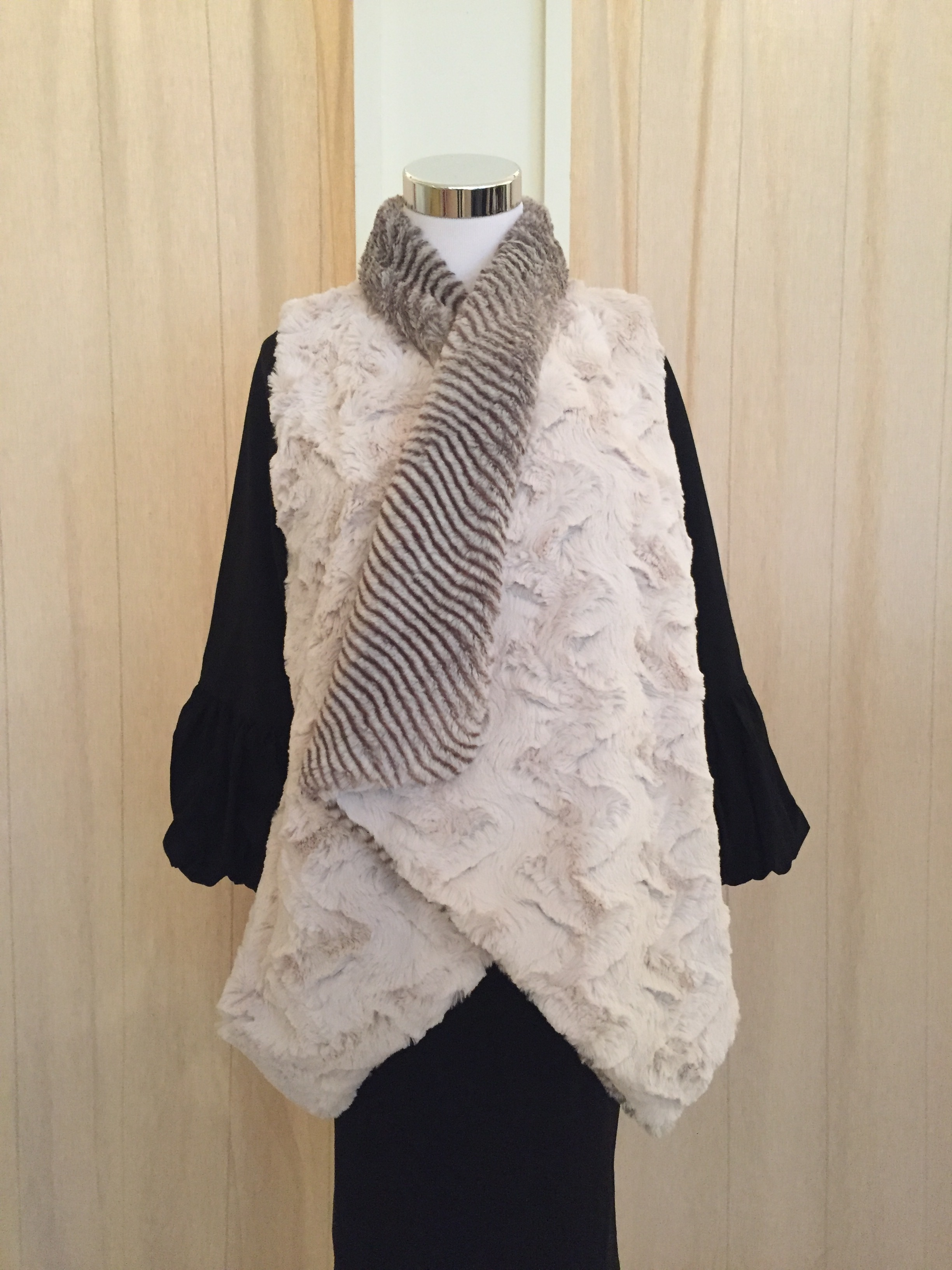 Cozy two tone vest $54