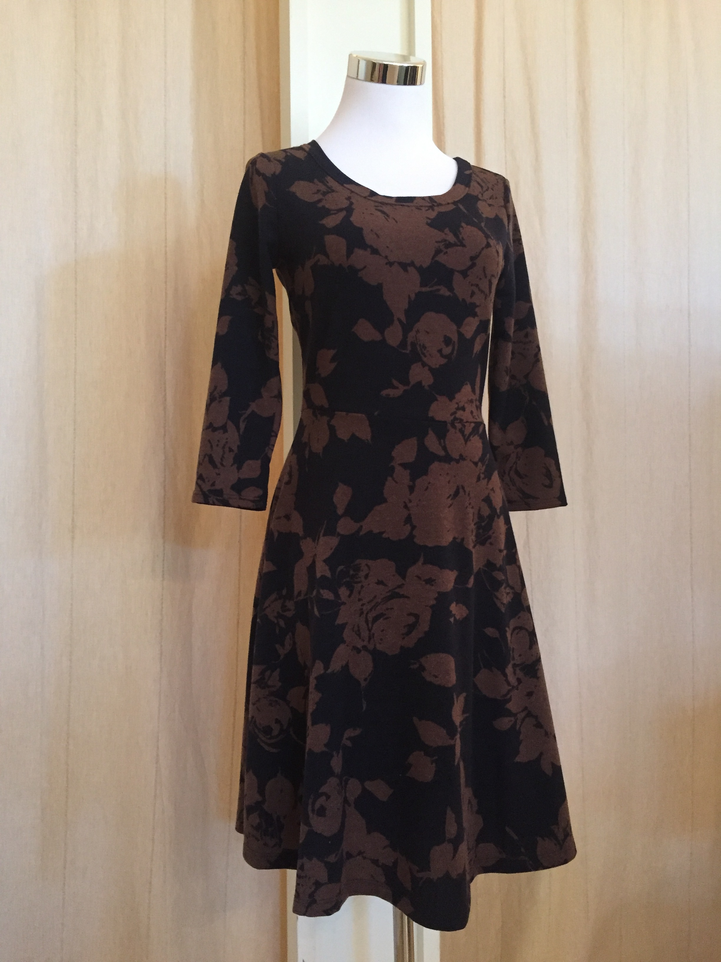 Black and brown floral dress $45