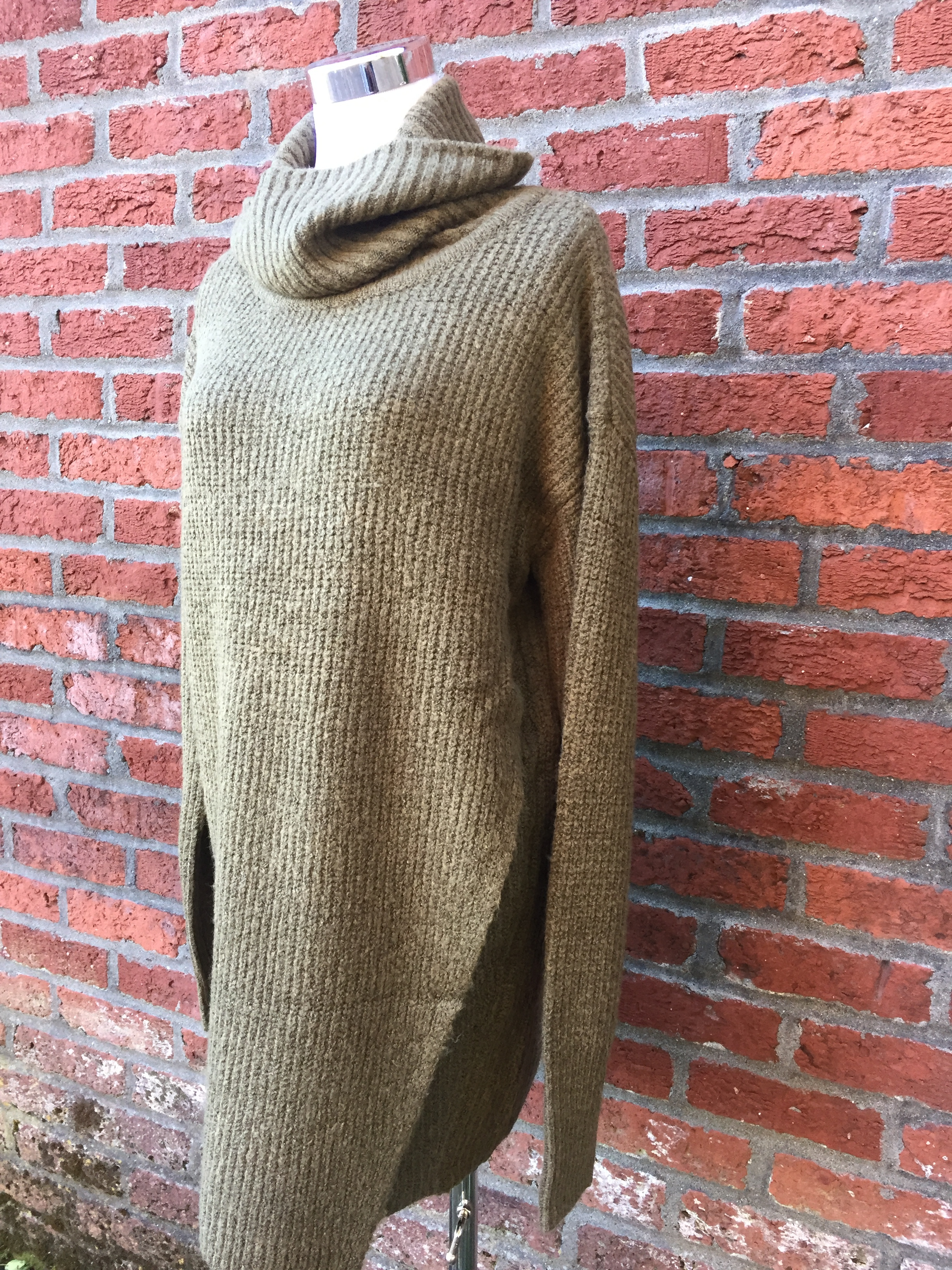 Cowl Neck Sweater (BACK IN STOCK, $42 black and olive)