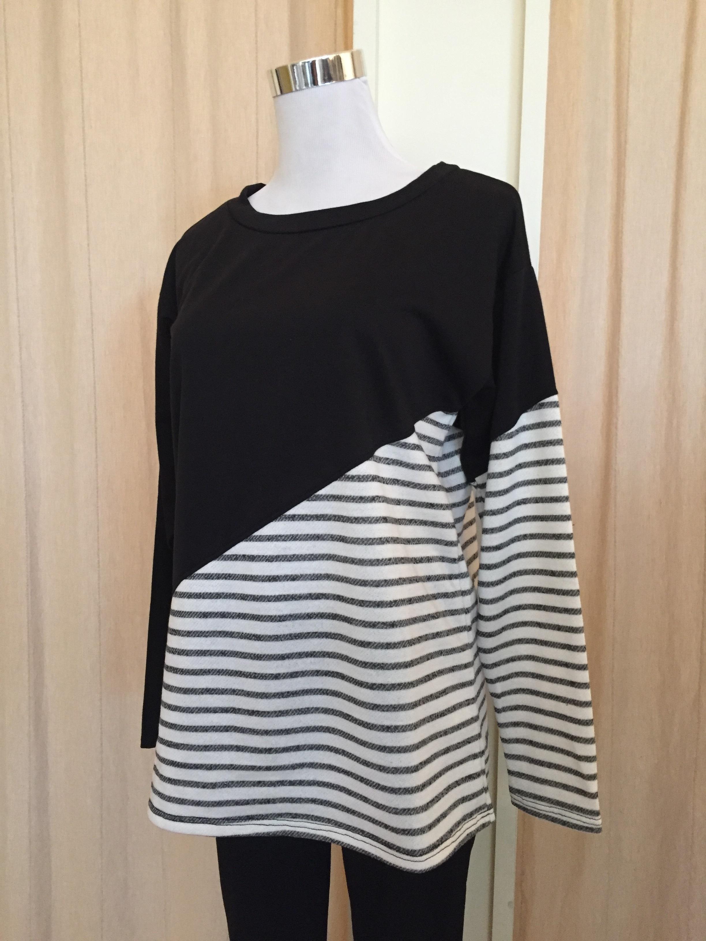 Asymmetrical Striped Top ($32)