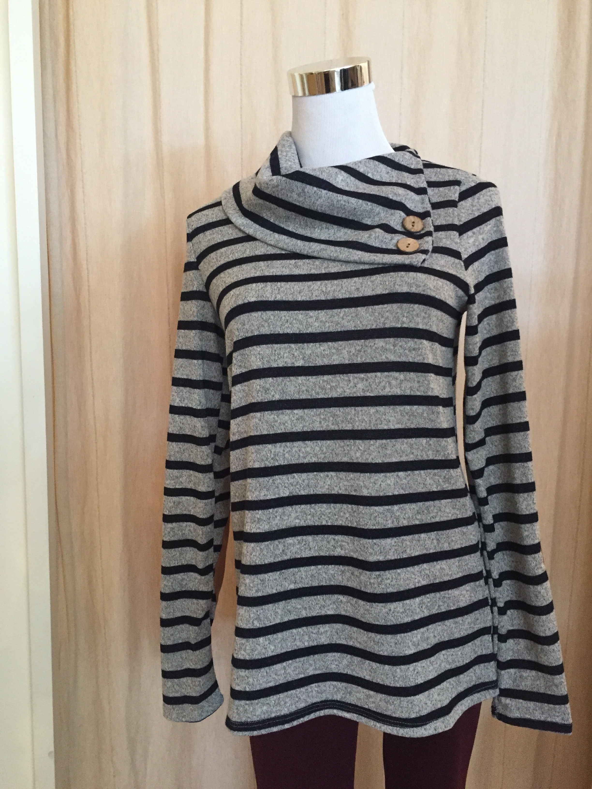 Button Detail Striped Sweater ($35)