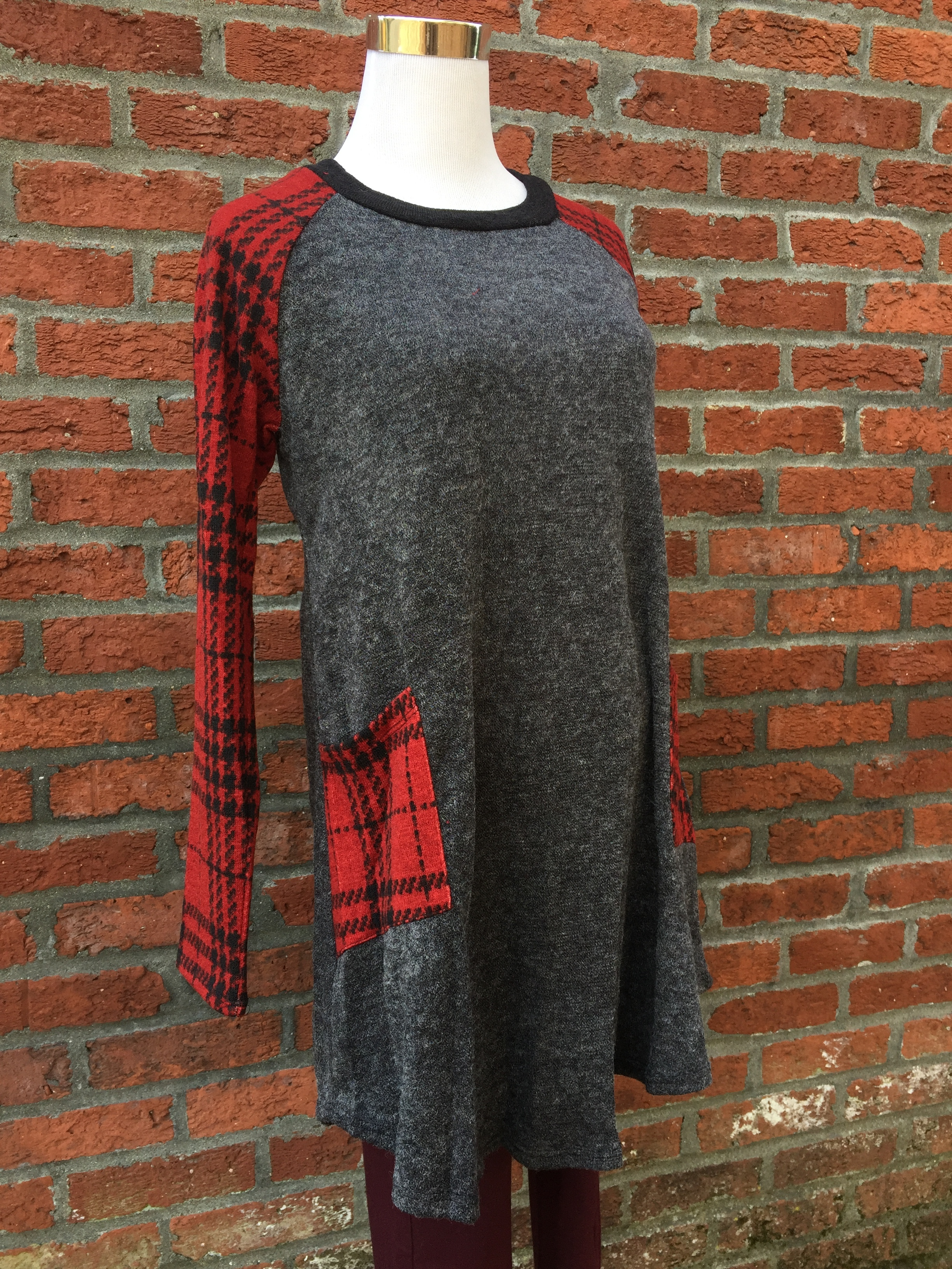 Grey and Plaid Tunic ($35)