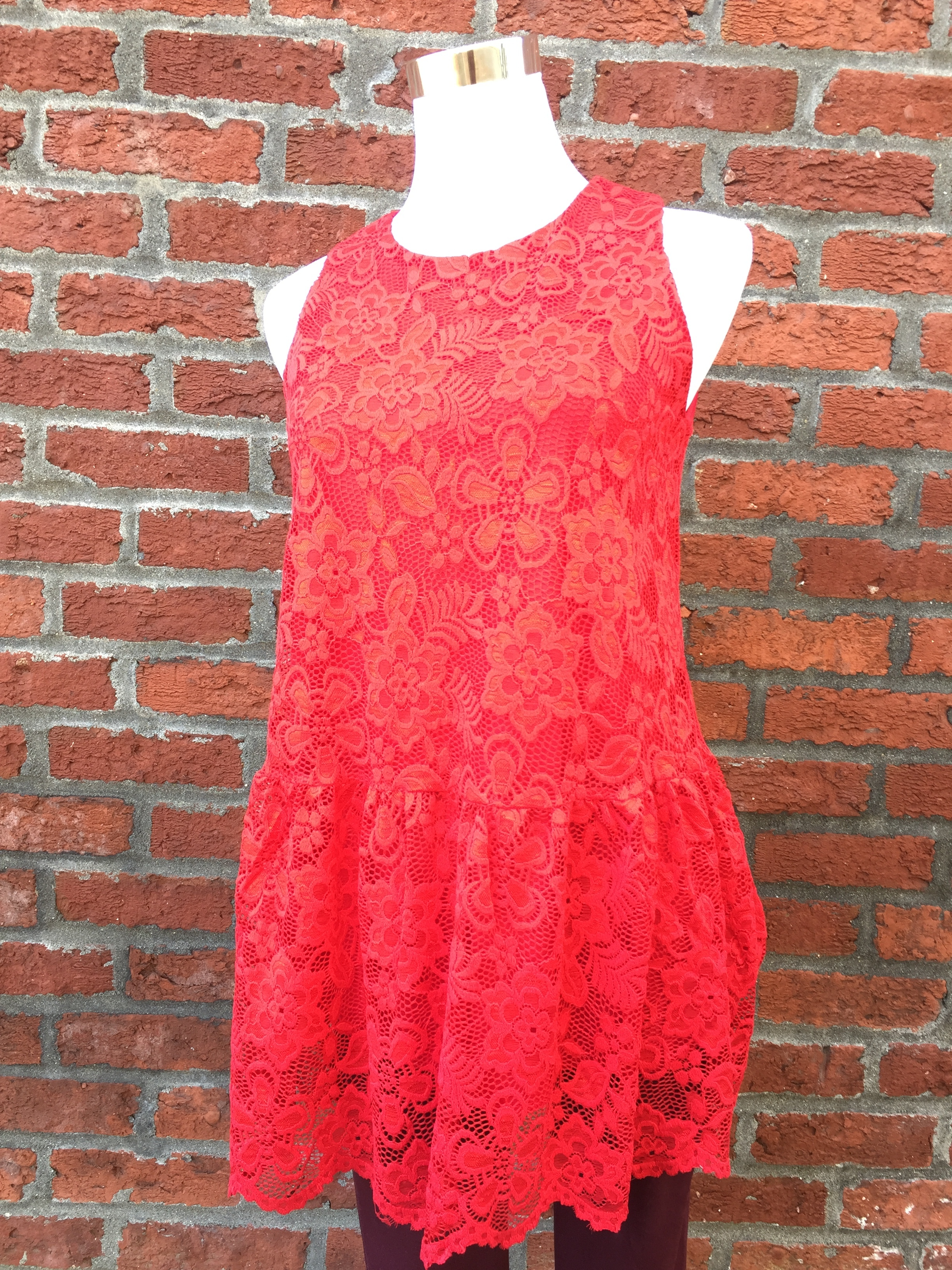 Red Lace Top ($35)