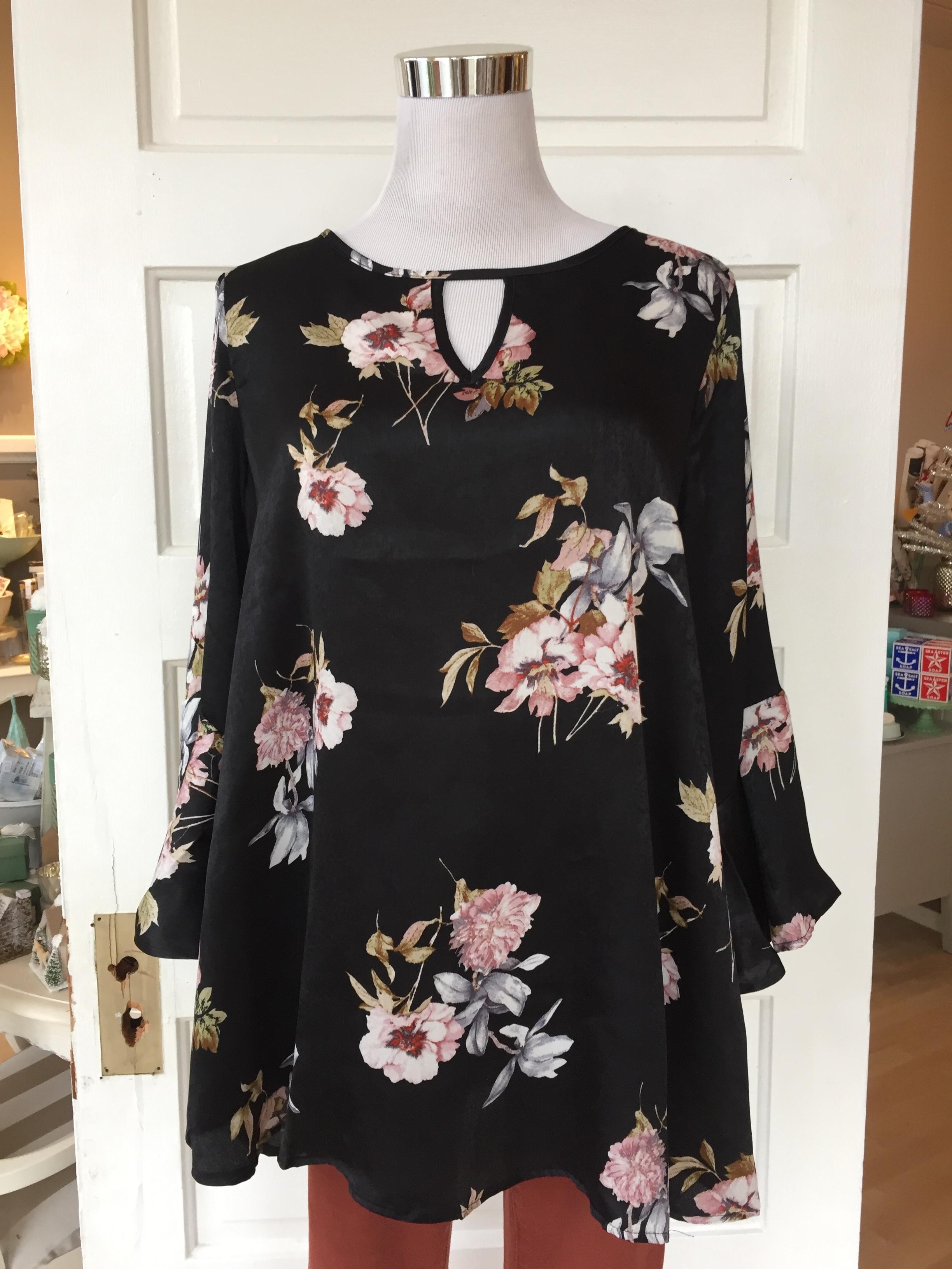 Flowy floral blouse ($32)