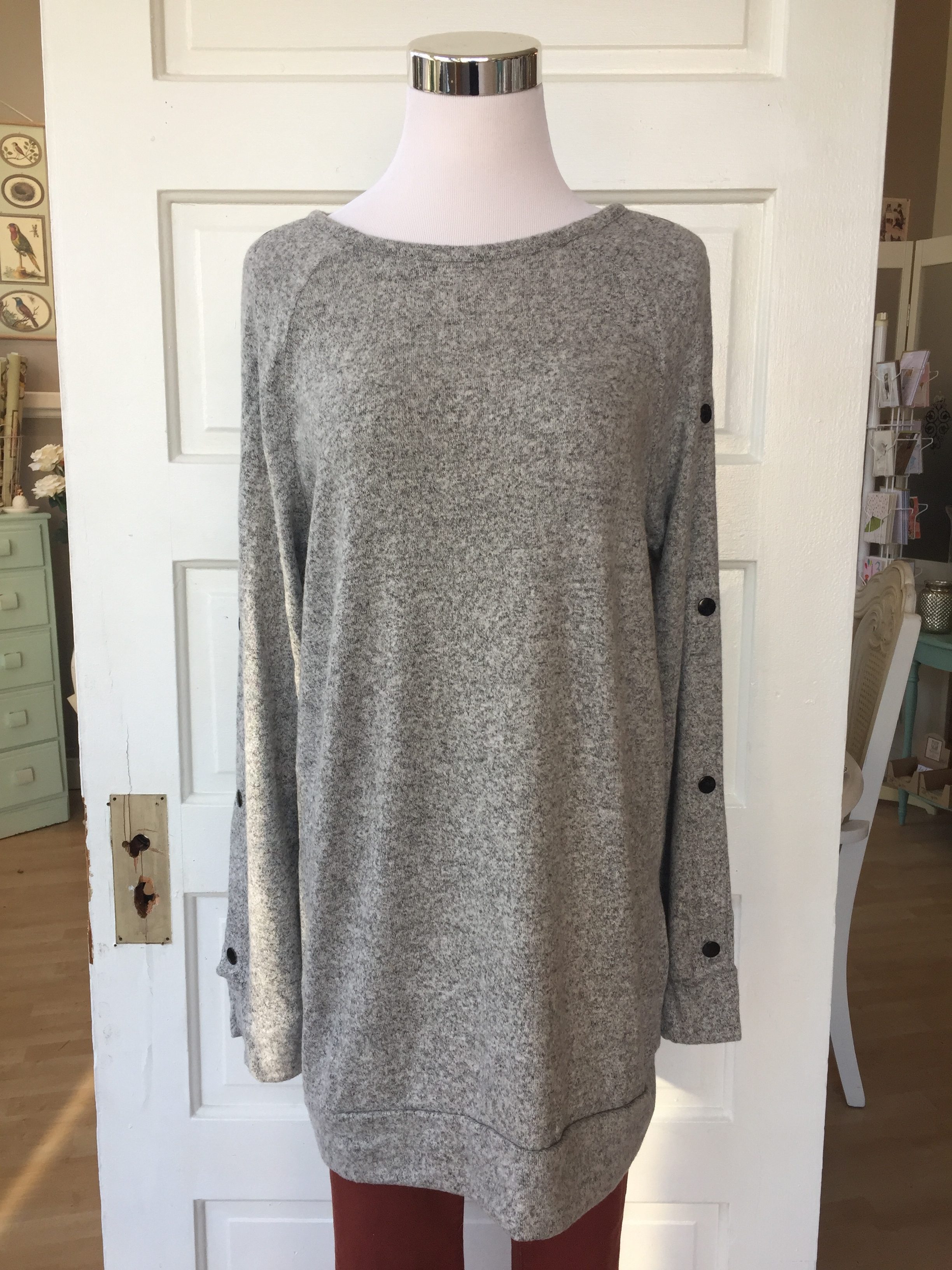 Button Sleeve Sweater $38