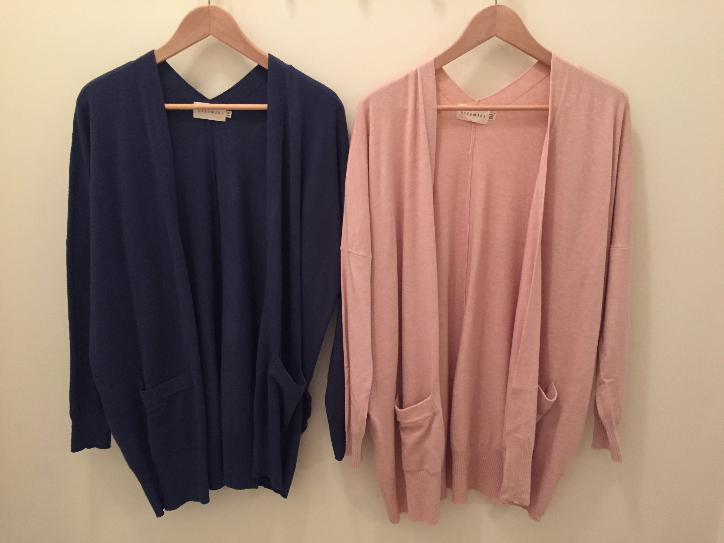Dreamers Cardigan $45 (Blush and Blue)