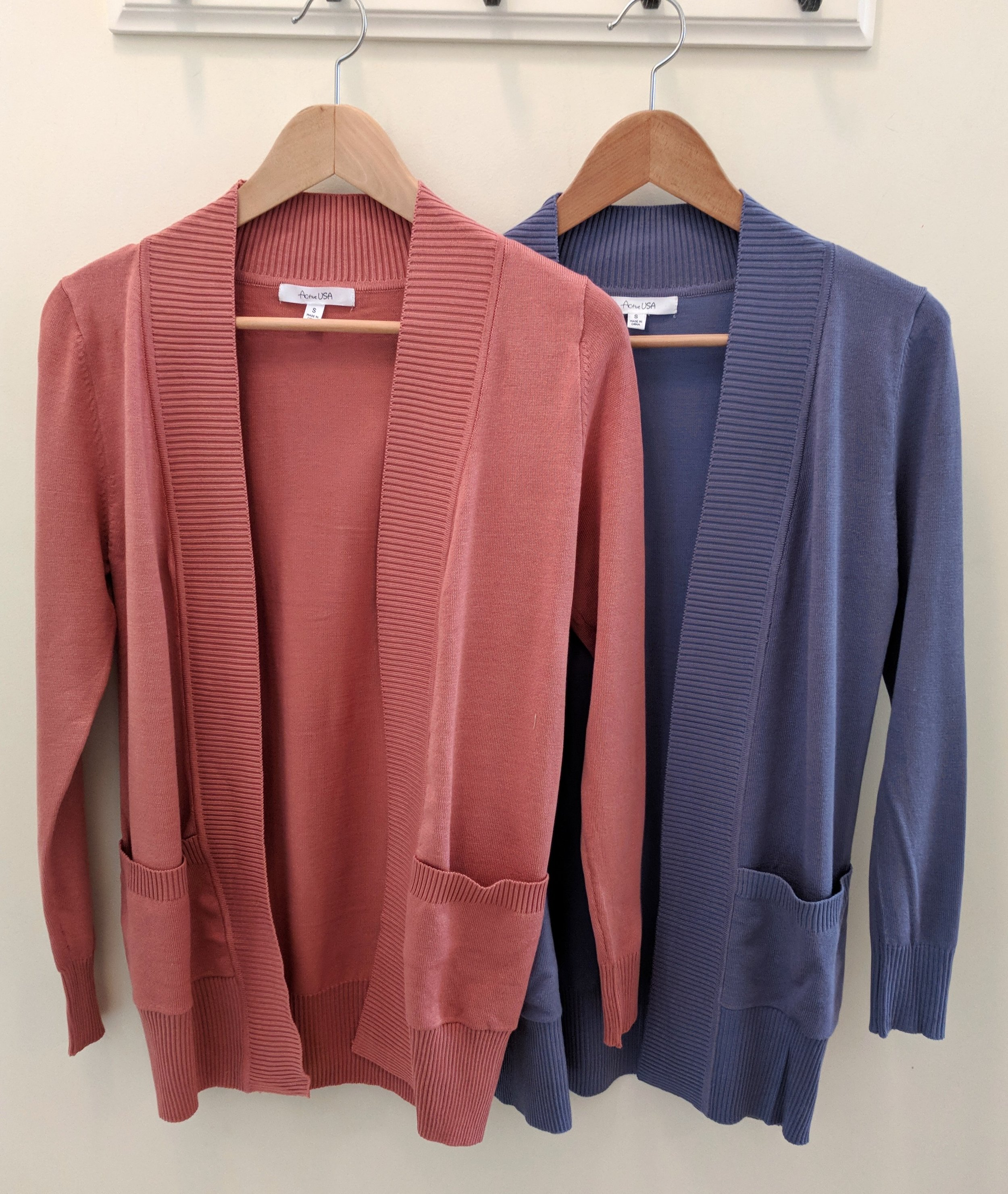 Rosy Pink and Soft Purple Cardigan $34