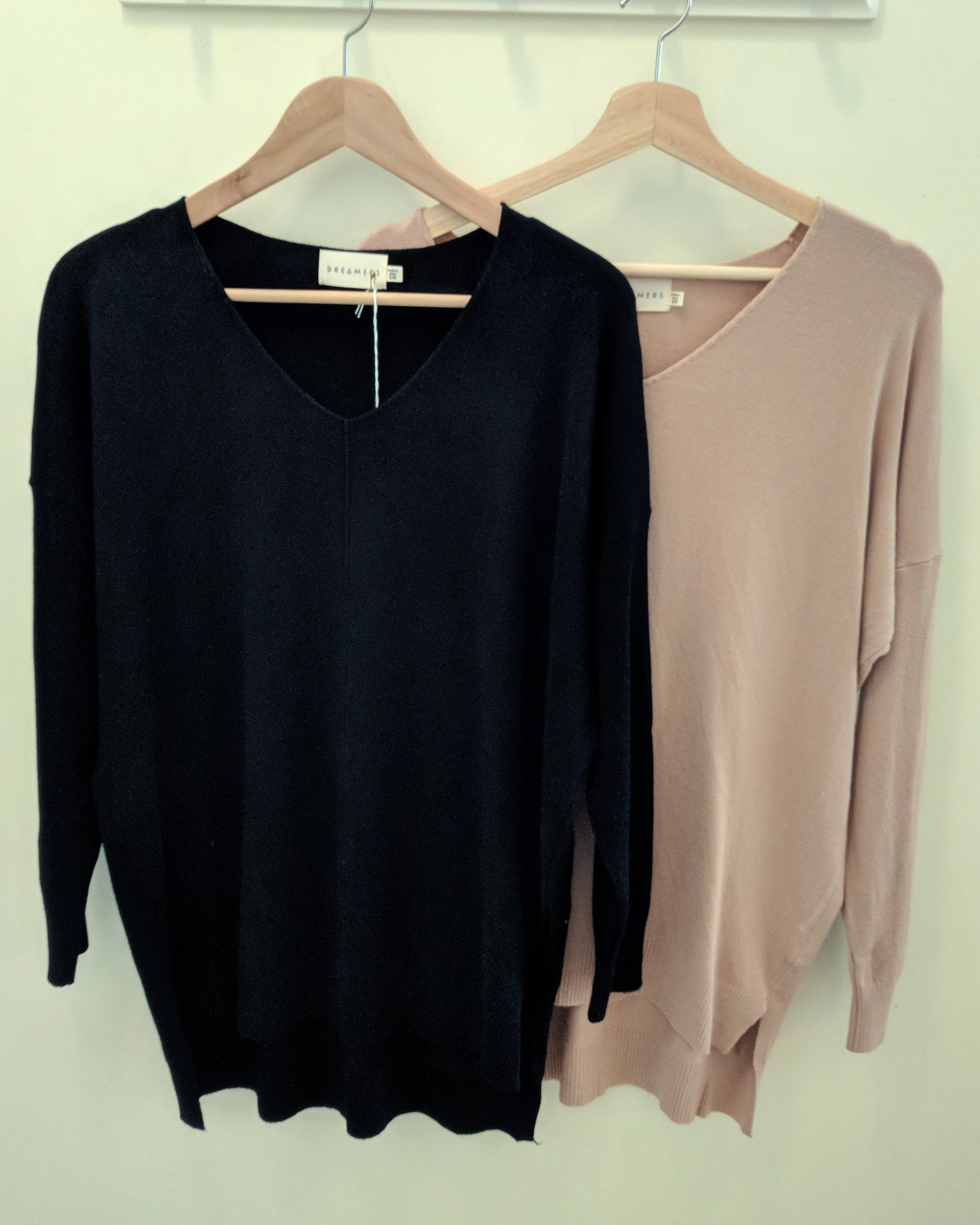 Black and Dusty Pink Dreamer Sweater $42