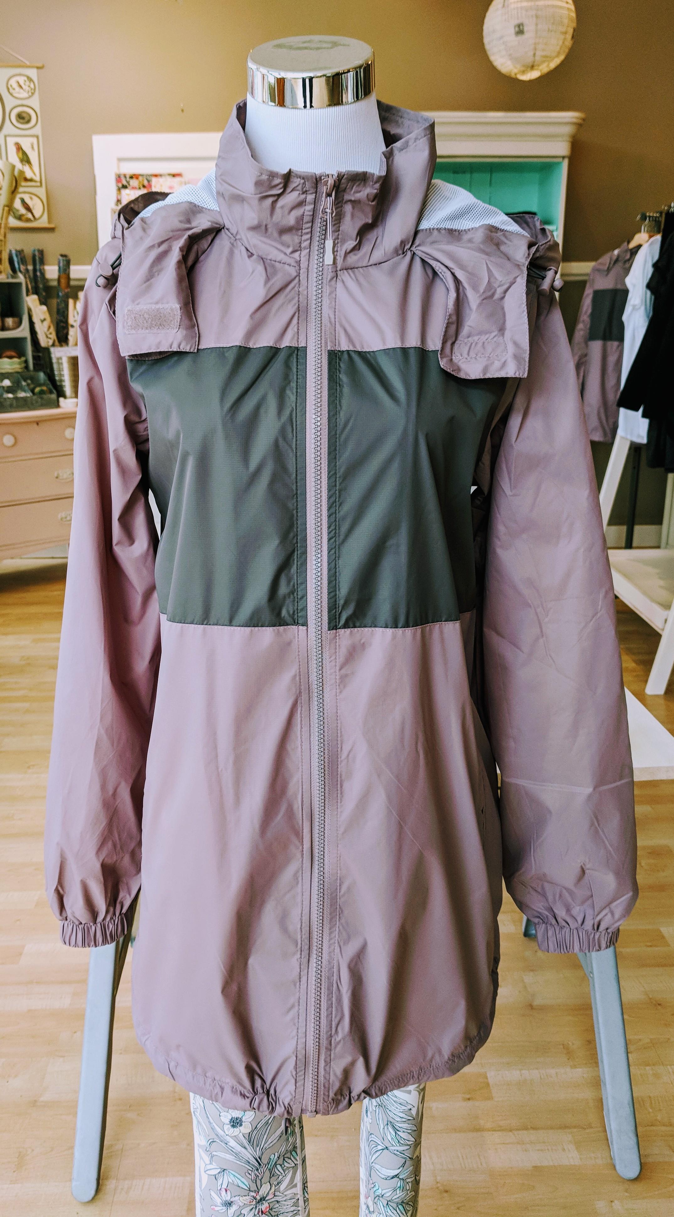 Violet casual hoodie jacket with adjustable drawstrings $54