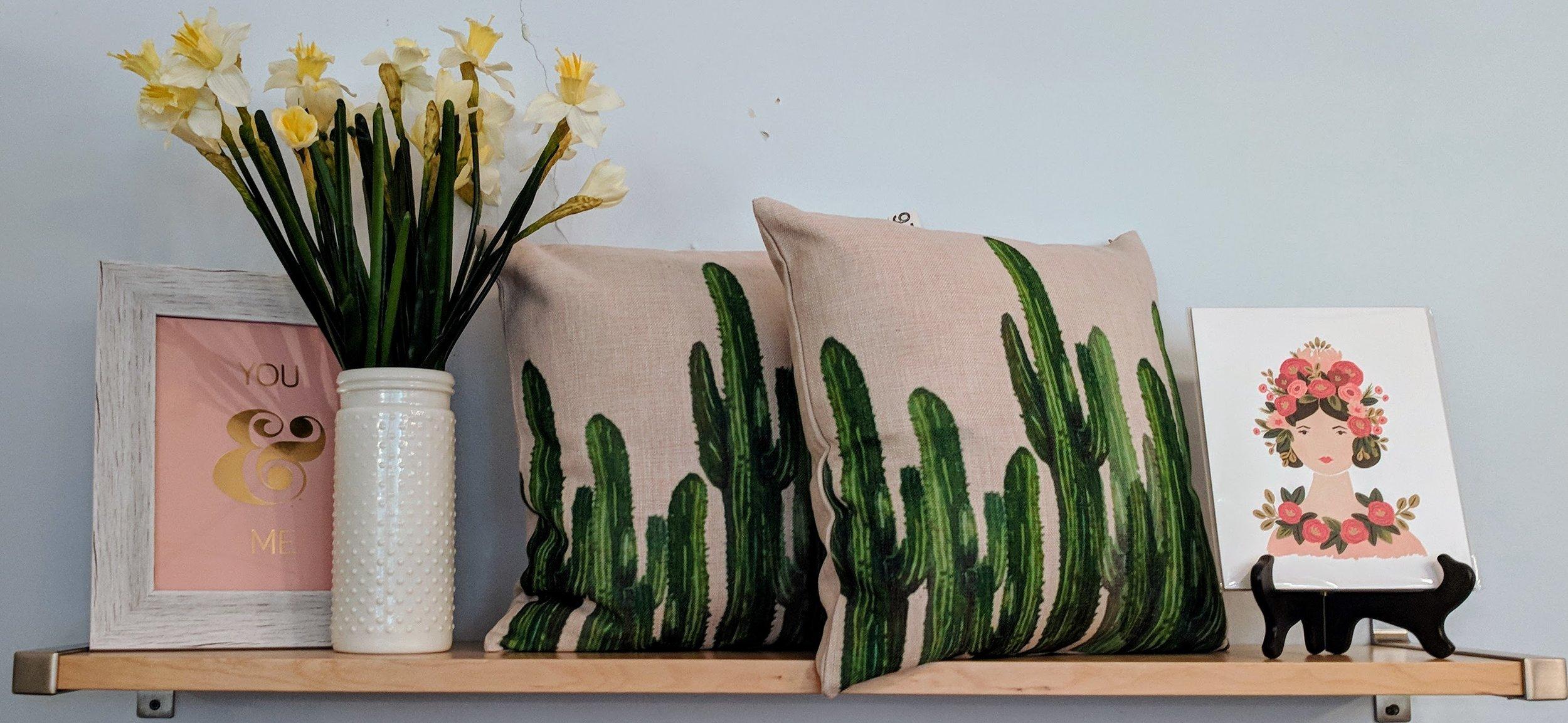 Cactus Print Pillow $26
